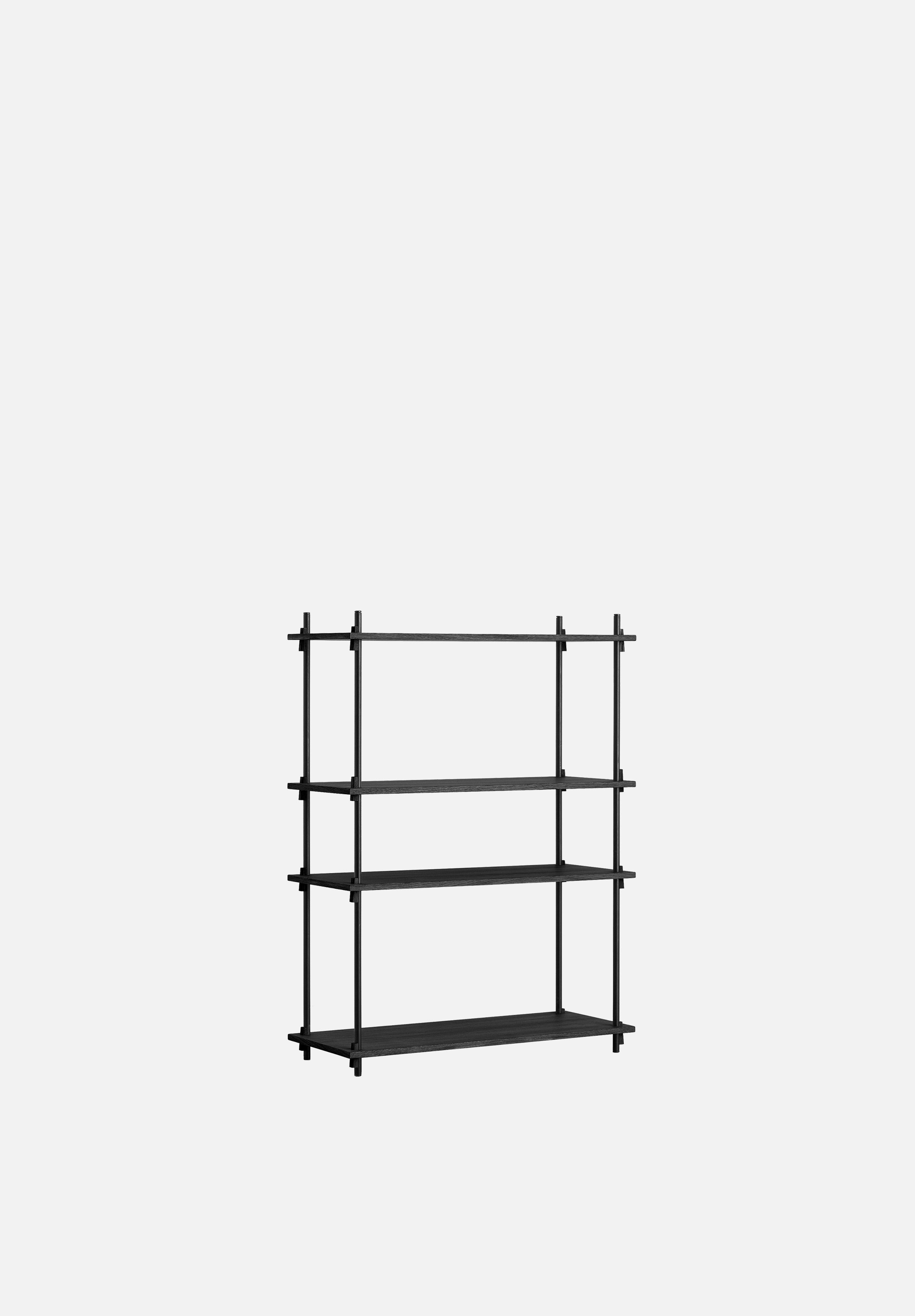 Shelving System — Medium-Moebe-Single Bay-Black-danish-interior-furniture-denmark-Average-design-toronto-canada