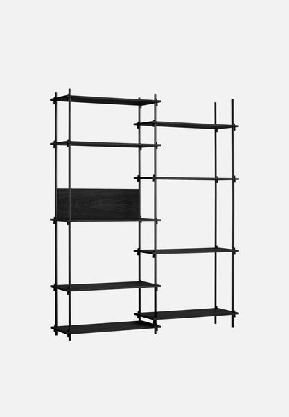 Shelving System — Tall-Moebe-Double Bay-Black-Average