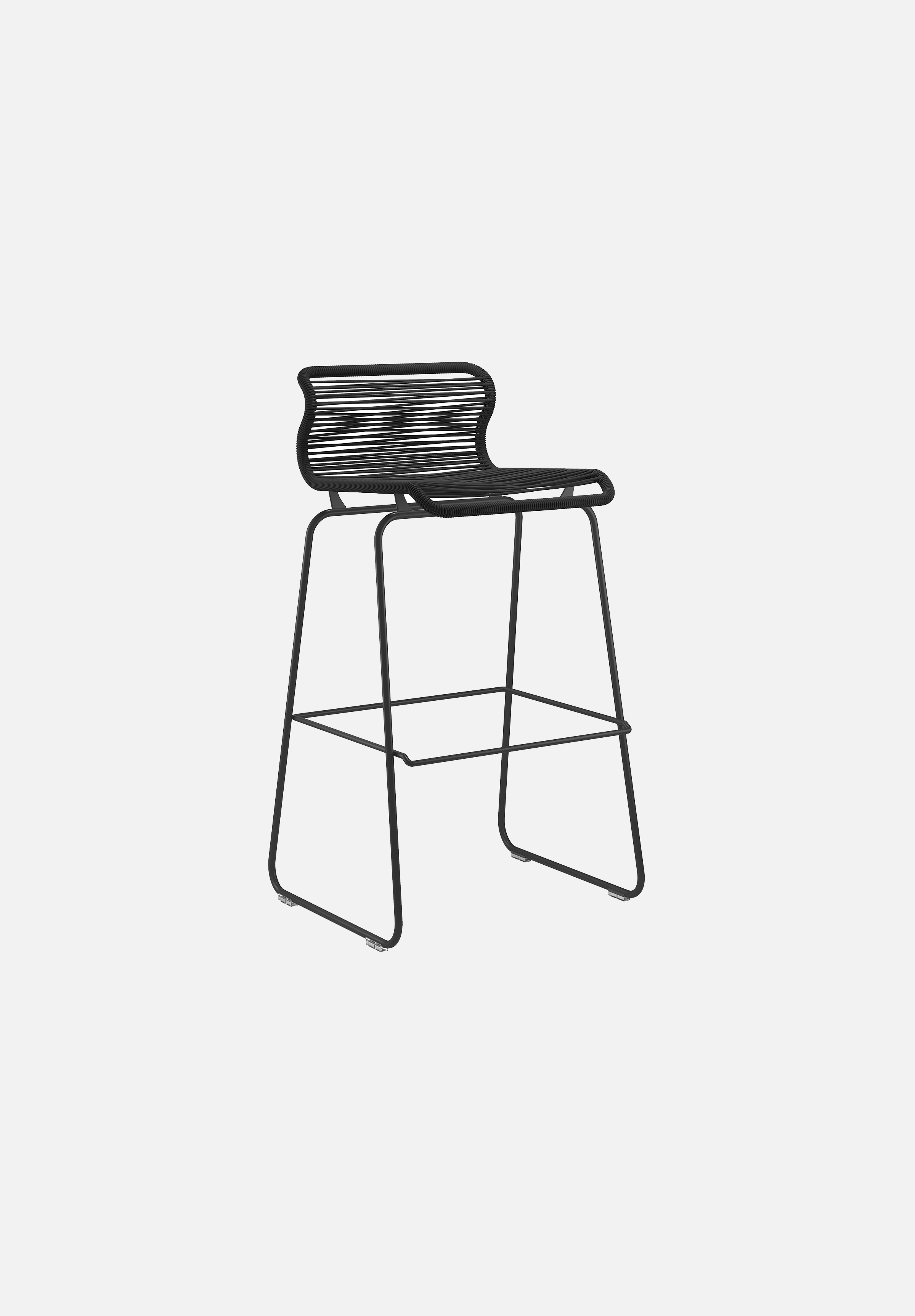 Panton One Stool — Clark-Verner Panton-Montana-Black Legs-Bar Height-Average