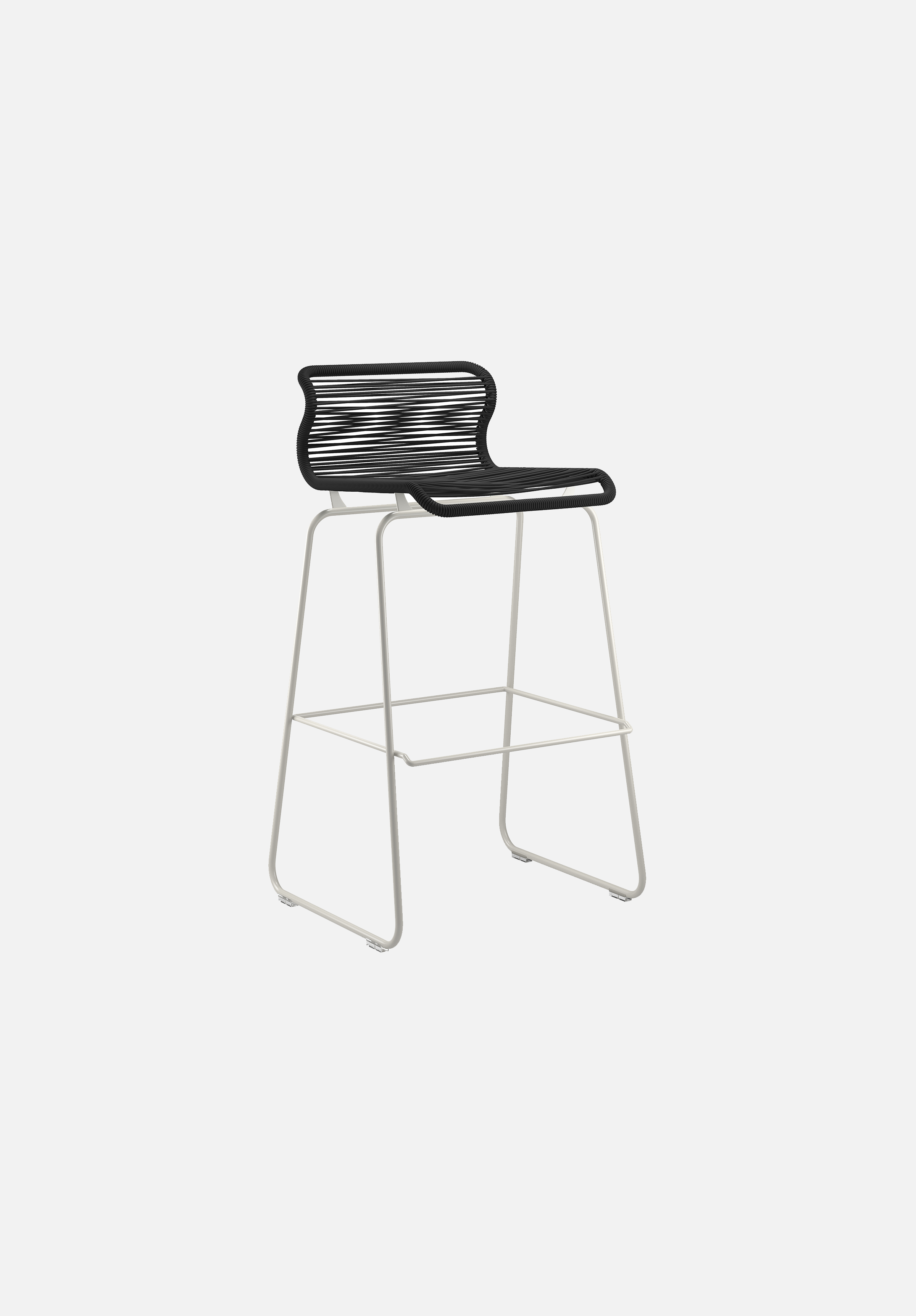 Panton One Stool — Clark-Verner Panton-Montana-Silk Grey Legs-Bar Height-Average