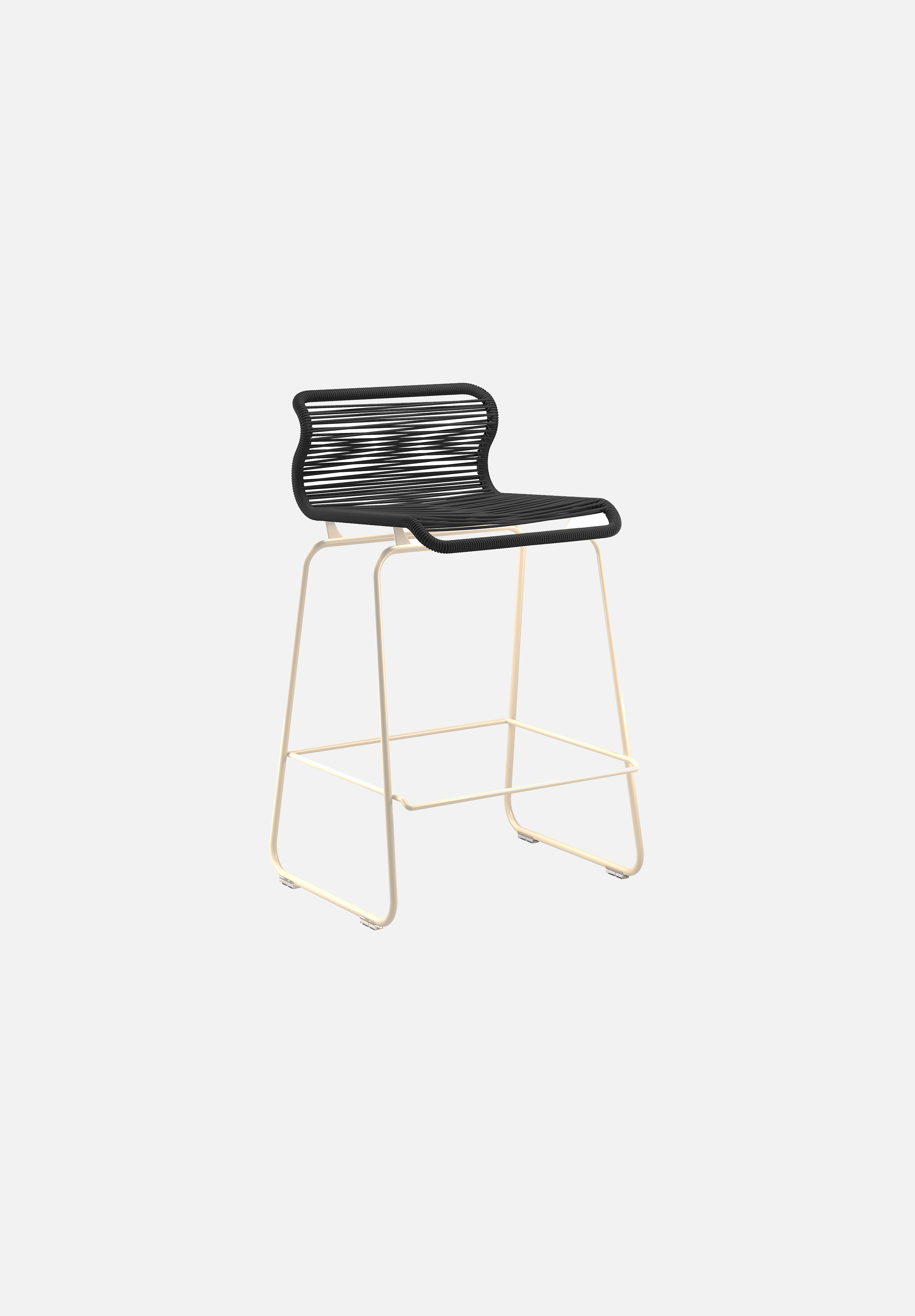 Panton One Stool — Clark-Verner Panton-Montana-Beige Legs-Counter Height-Average