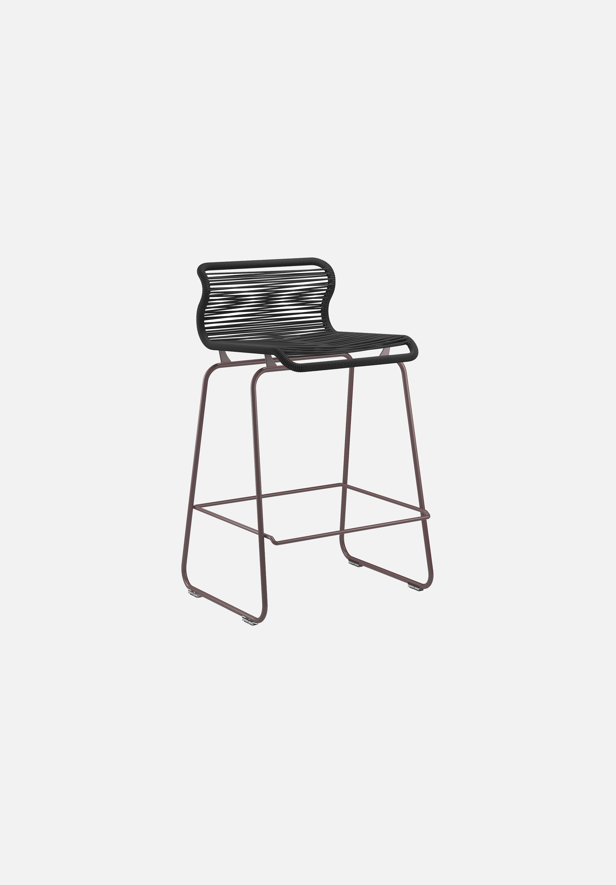 Panton One Stool — Clark-Verner Panton-Montana-Black Red Legs-Counter Height-Average