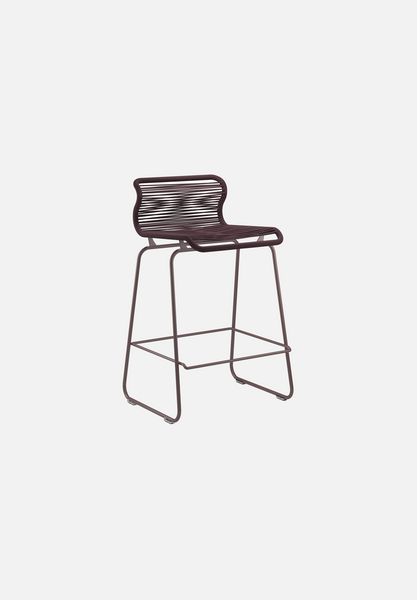 Panton One Stool — Marcel-Verner Panton-Montana-Black Red Legs-Counter Height-Average