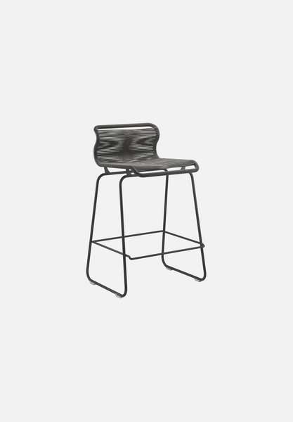 Panton One Stool — Black Paper Cord-Verner Panton-Montana-Black Legs-Counter Height-Average