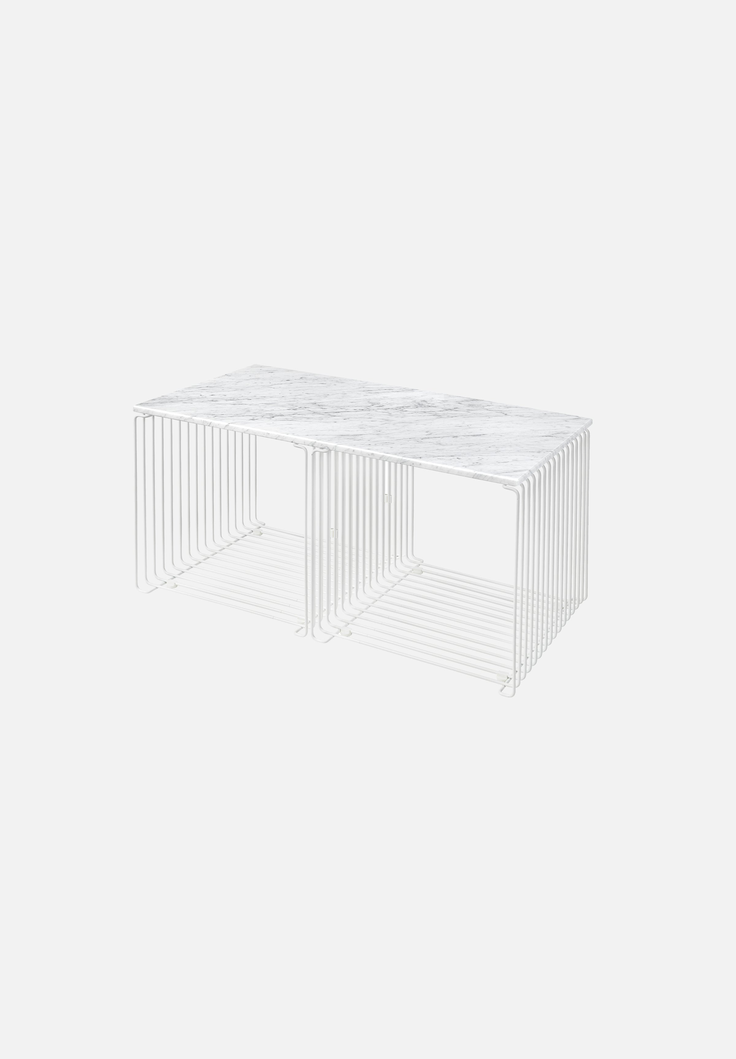 Panton Wire System — Surfaces-Verner Panton-Montana-White Marble-34.8cm Depth-70.1cm Width-Average