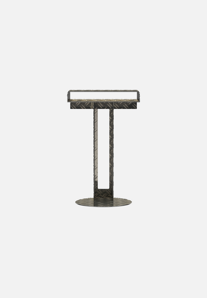 Meta Side Table — Diamond Plate