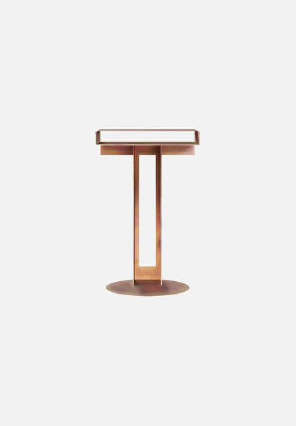 Meta Side Table — Yellow Chromate