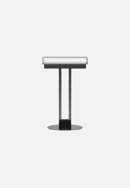 Meta Side Table — Polished Stainless Steel
