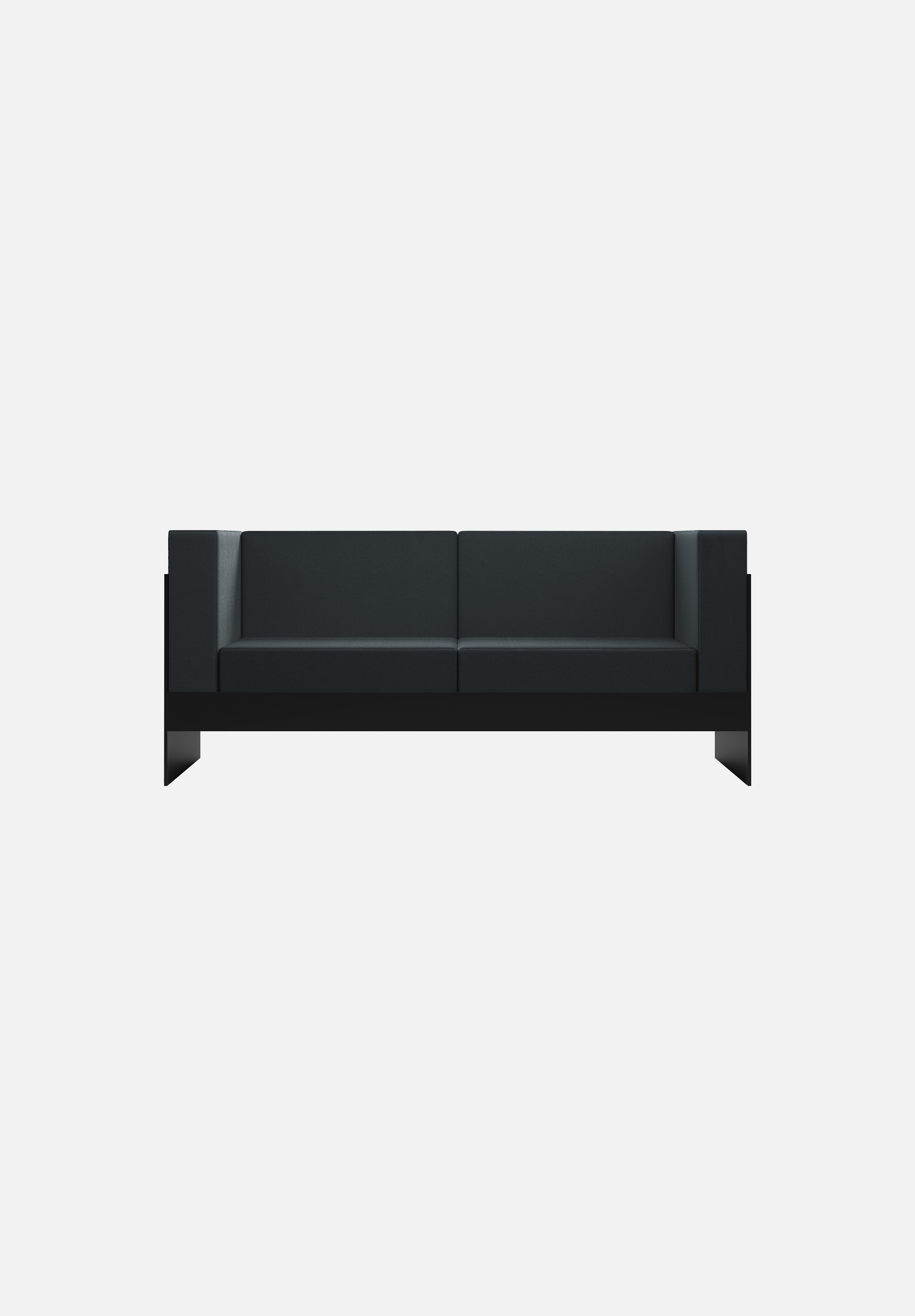 Standard Sofa — 2 Seater-New Tendency-Black-Average