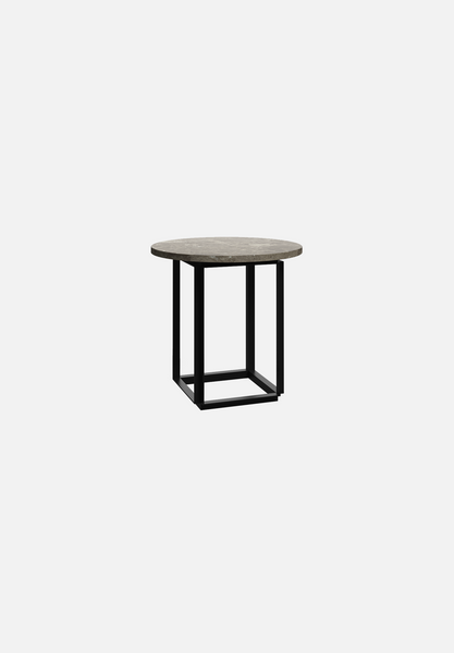Florence Side Table — Gris du Marais Marble