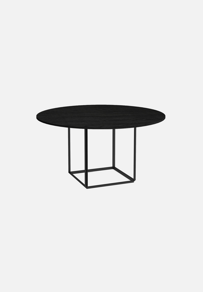 Florence Dining Table — Stained Black Ash-New Works-145cm-Average