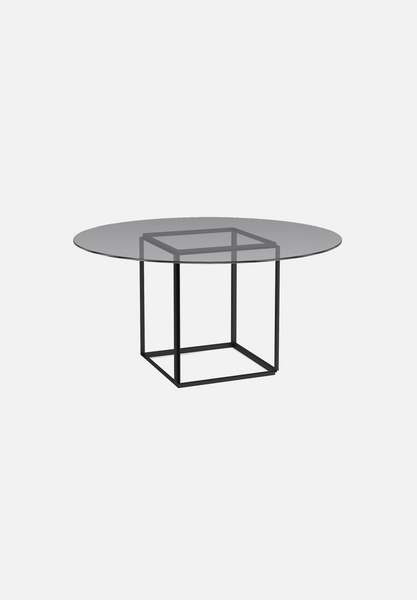 Florence Dining Table — Smoked Glass