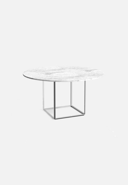 Florence Dining Table — Carrera Marble-New Works-120cm-Average