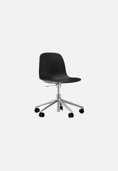 Form Chair — Swivel Gaslift-Simon Legald-Normann Copenhagen-Black-Polished Aluminum-Average