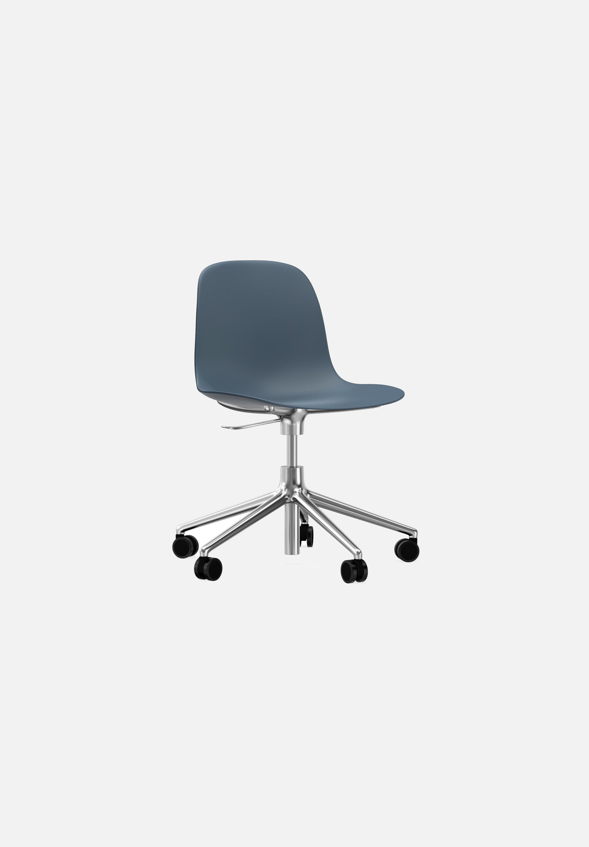 Form Chair — Swivel Gaslift-Simon Legald-Normann Copenhagen-Blue-Polished Aluminum-Average