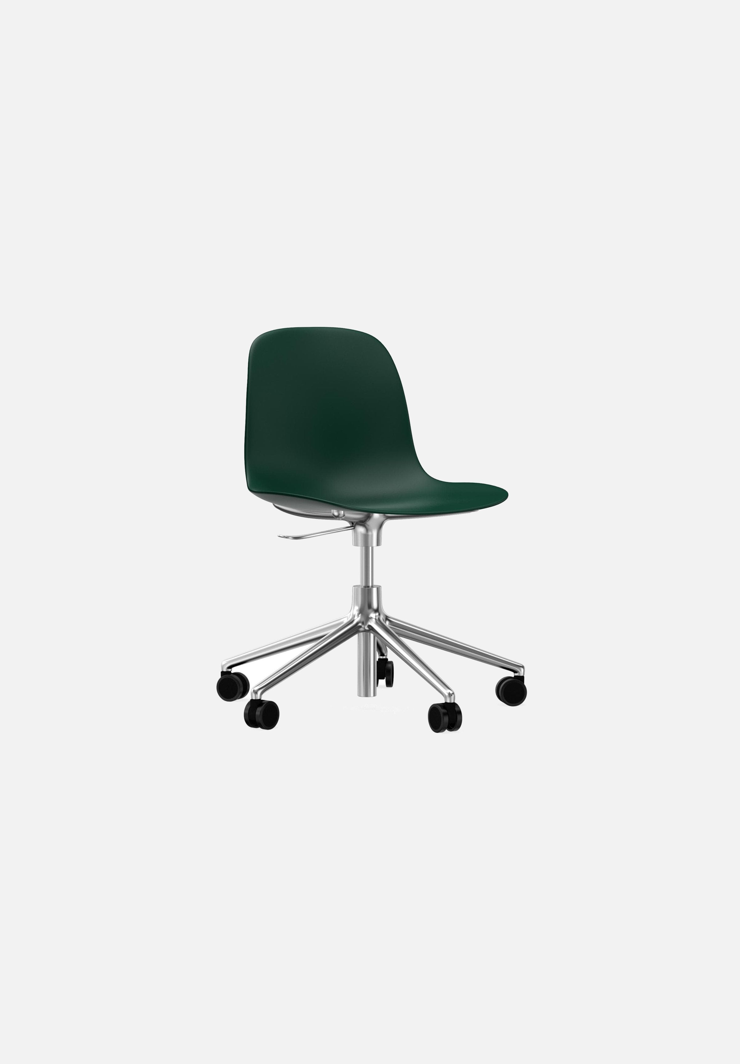 Form Chair — Swivel Gaslift-Simon Legald-Normann Copenhagen-Green-Polished Aluminum-Average