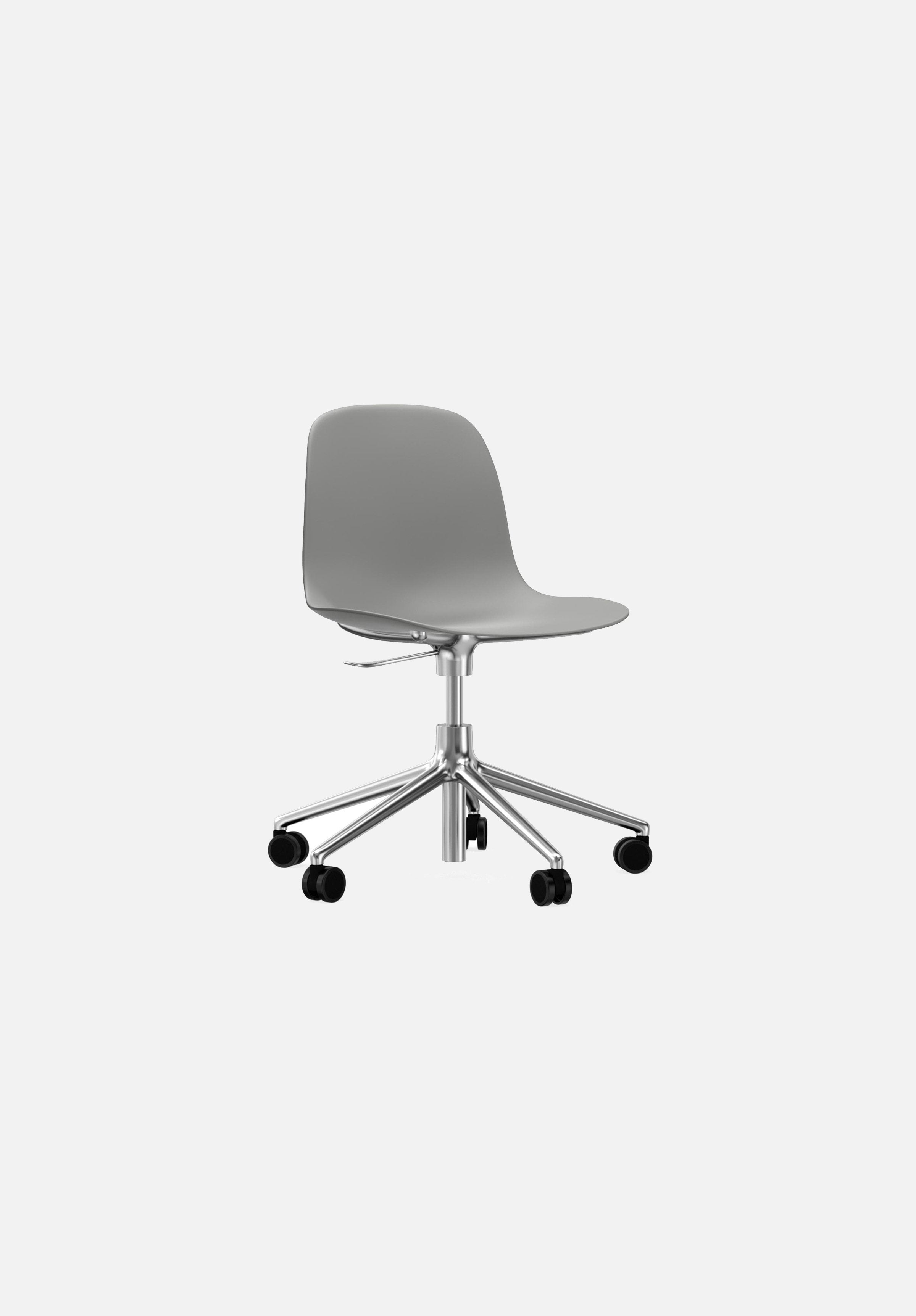 Form Chair — Swivel Gaslift-Simon Legald-Normann Copenhagen-Grey-Polished Aluminum-Average