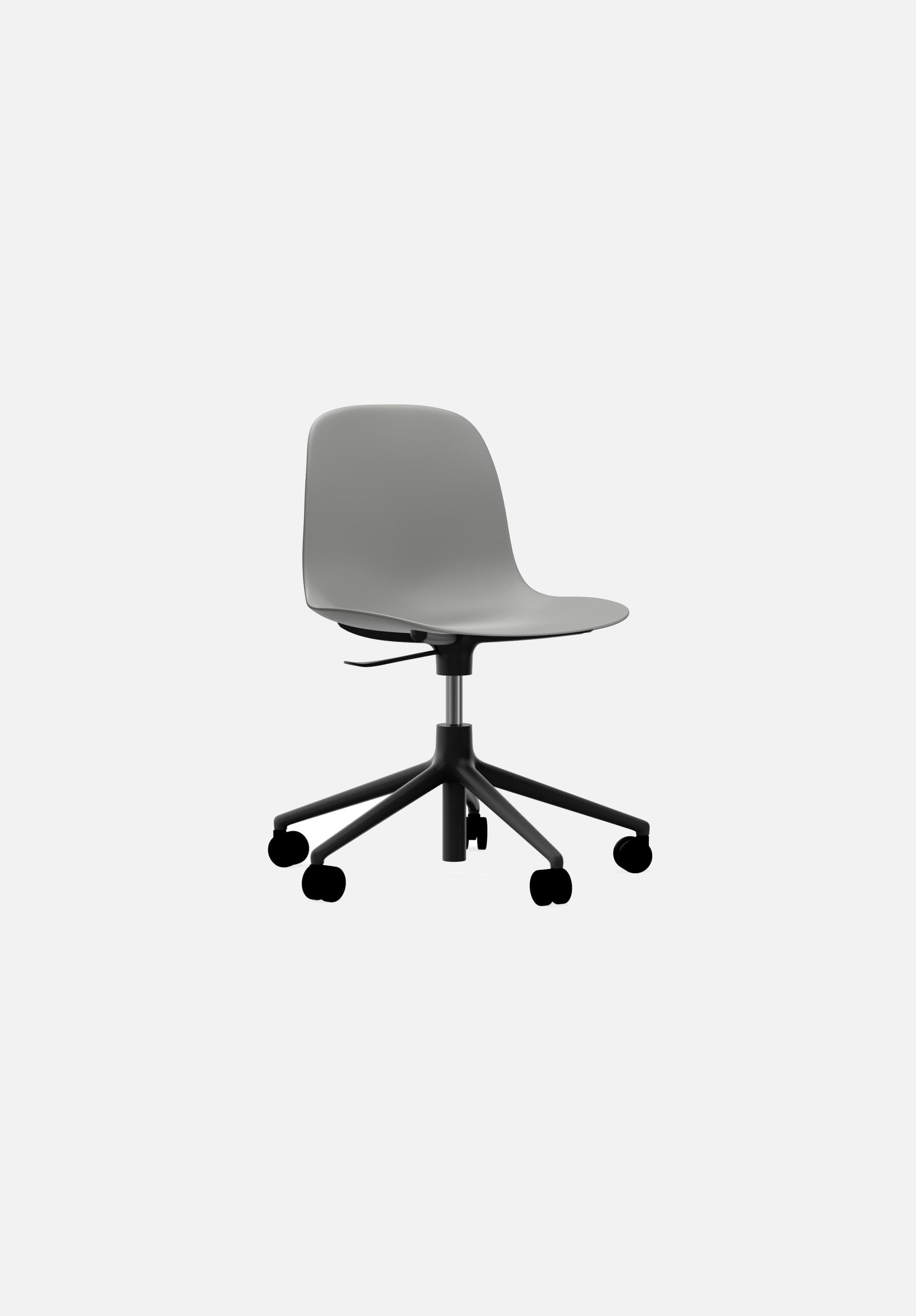 Form Chair — Swivel Gaslift-Simon Legald-Normann Copenhagen-Grey-Black Aluminum-Average