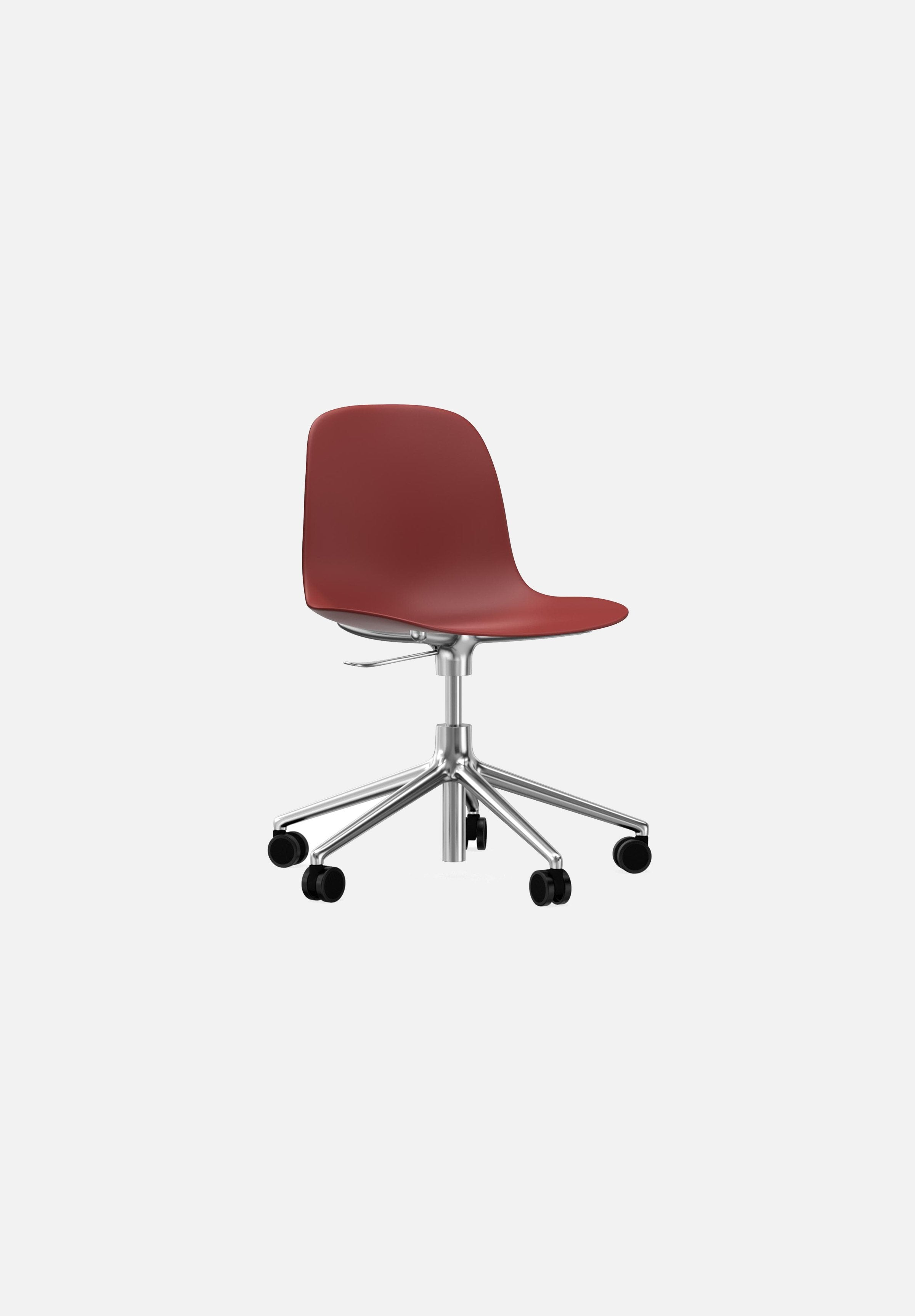 Form Chair — Swivel Gaslift-Simon Legald-Normann Copenhagen-Red-Polished Aluminum-Average-canada-design-store-danish-denmark-furniture-interior