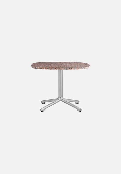 Era — Side Table-Simon Legald-Normann Copenhagen-Rose Granite-Polished Aluminum-H 45 x L 60 x D 48.5cm-Average