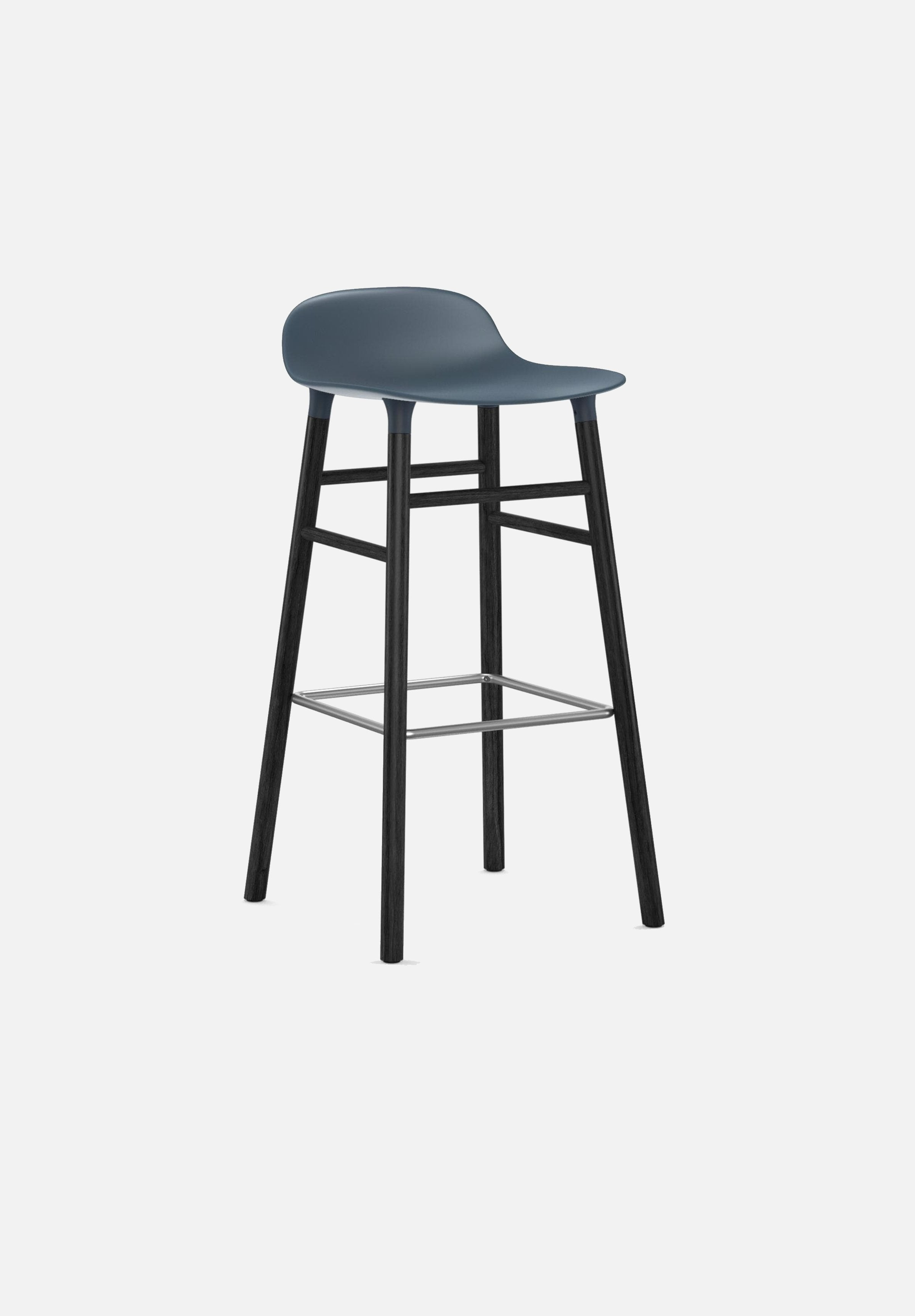 Form Stool — 75cm-Simon Legald-Normann Copenhagen-Blue-Black Lacquered Wood-Average-canada-design-store-danish-denmark-furniture-interior