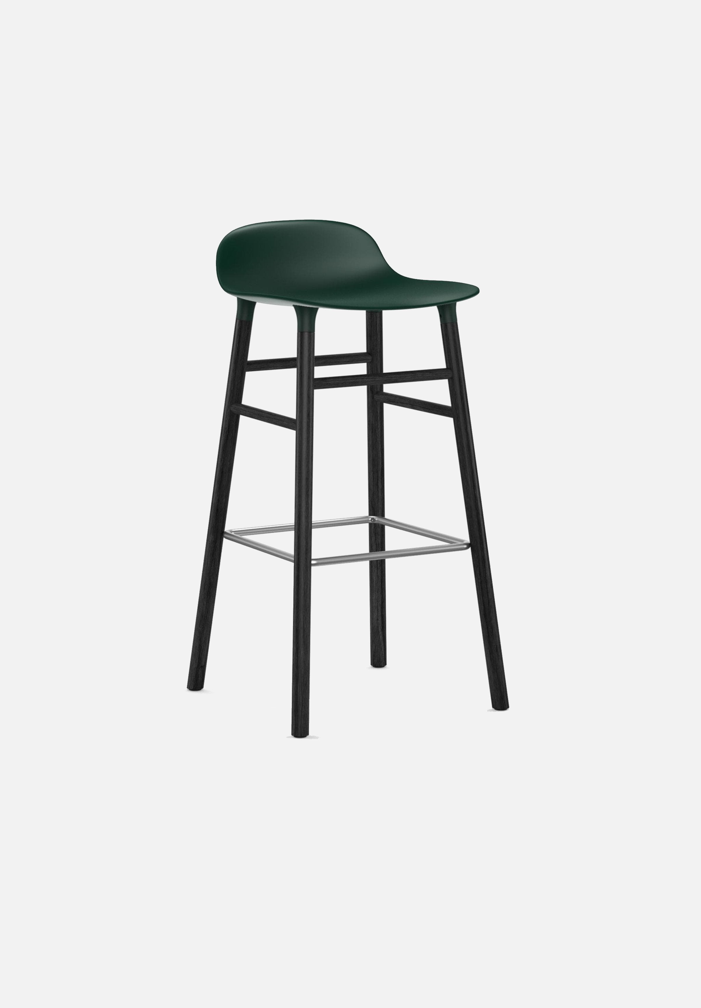 Form Stool — 75cm-Simon Legald-Normann Copenhagen-Green-Black Lacquered Wood-Average-canada-design-store-danish-denmark-furniture-interior