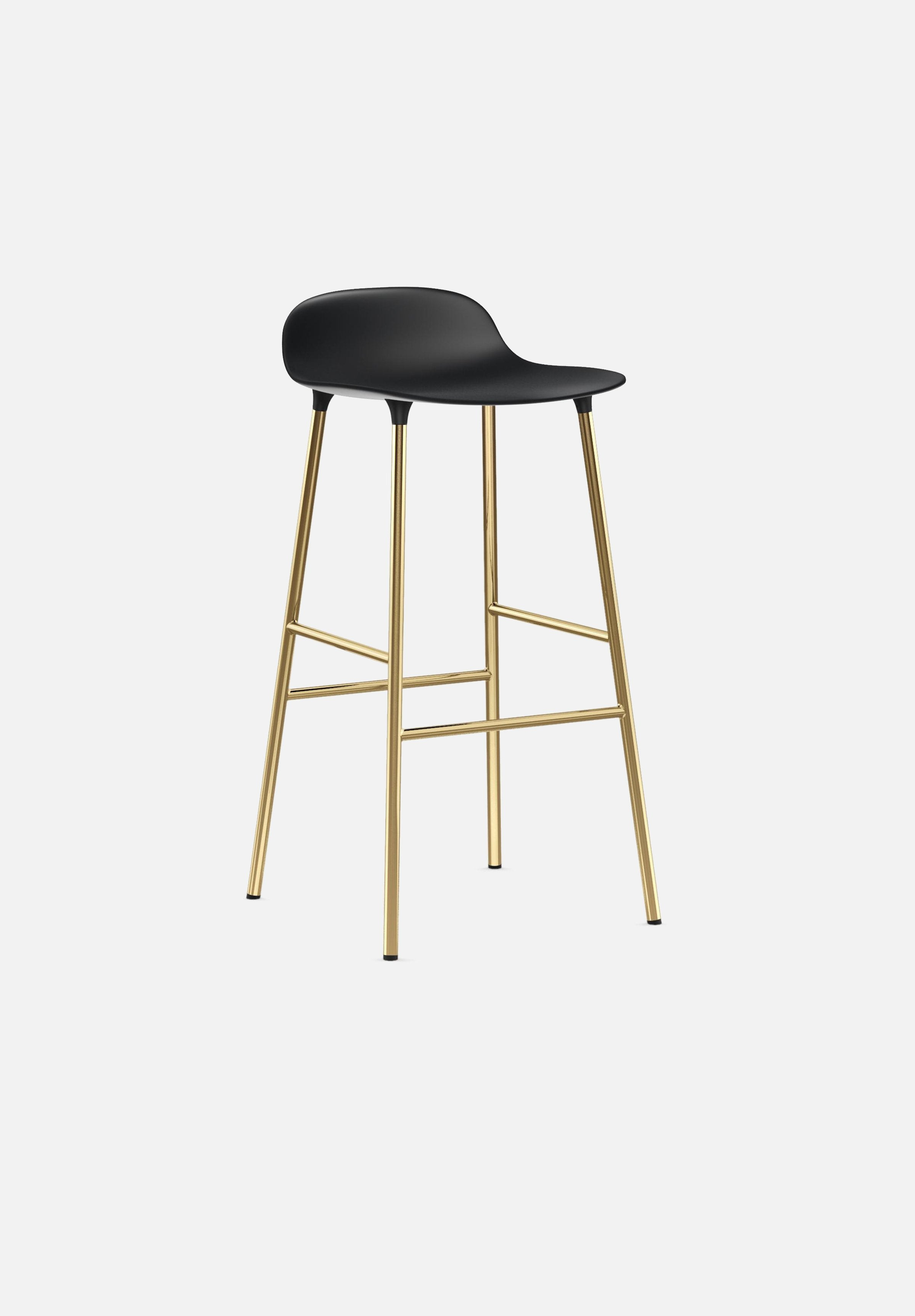 Form Stool — 75cm-Simon Legald-Normann Copenhagen-Black-Brass-Average-canada-design-store-danish-denmark-furniture-interior