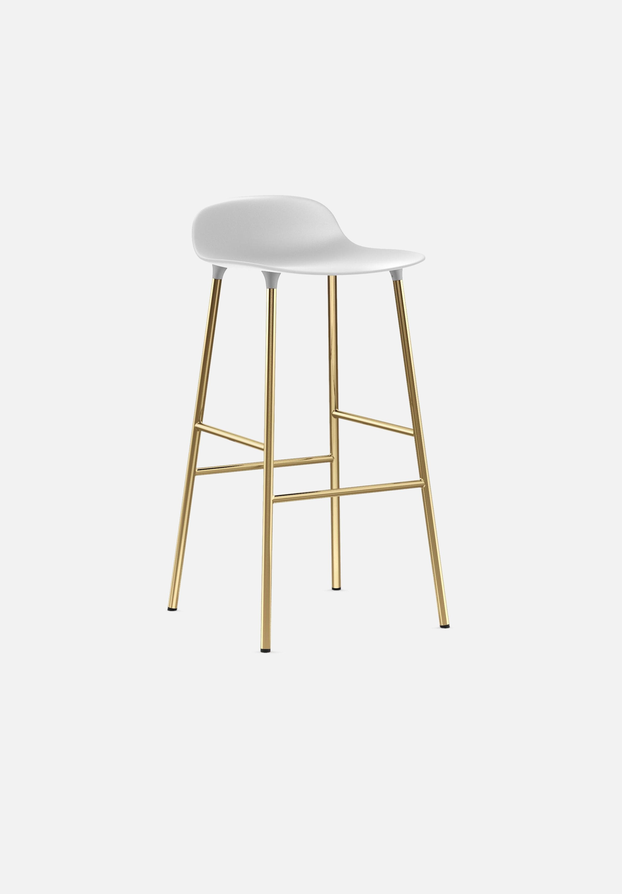 Form Stool — 75cm-Simon Legald-Normann Copenhagen-White-Brass-Average-canada-design-store-danish-denmark-furniture-interior