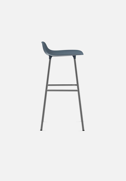 Form Stool — 75cm-Simon Legald-Normann Copenhagen-White-Lacquered Steel-Average-canada-design-store-danish-denmark-furniture-interior