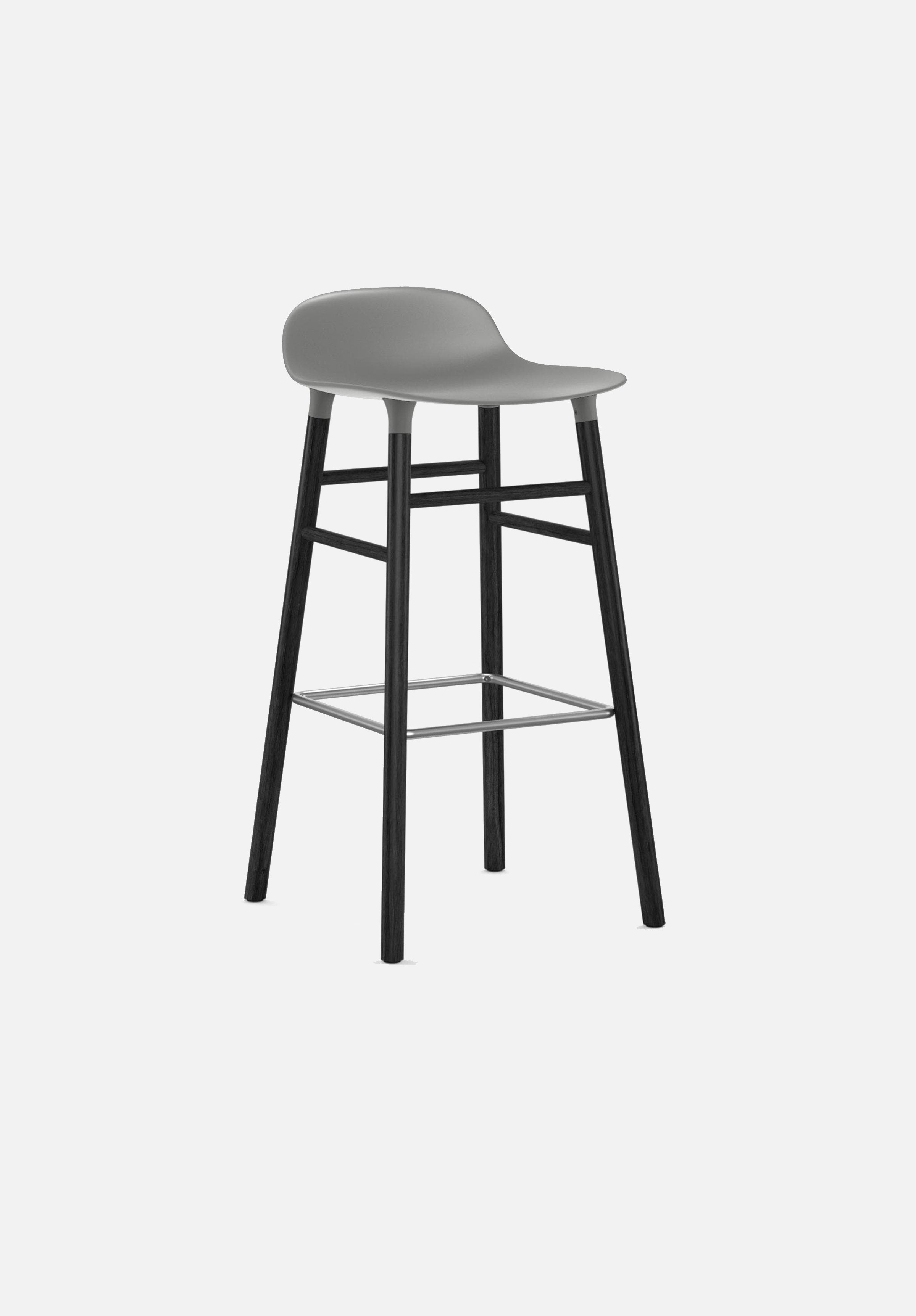 Form Stool — 75cm-Simon Legald-Normann Copenhagen-Grey-Black Lacquered Wood-Average-canada-design-store-danish-denmark-furniture-interior
