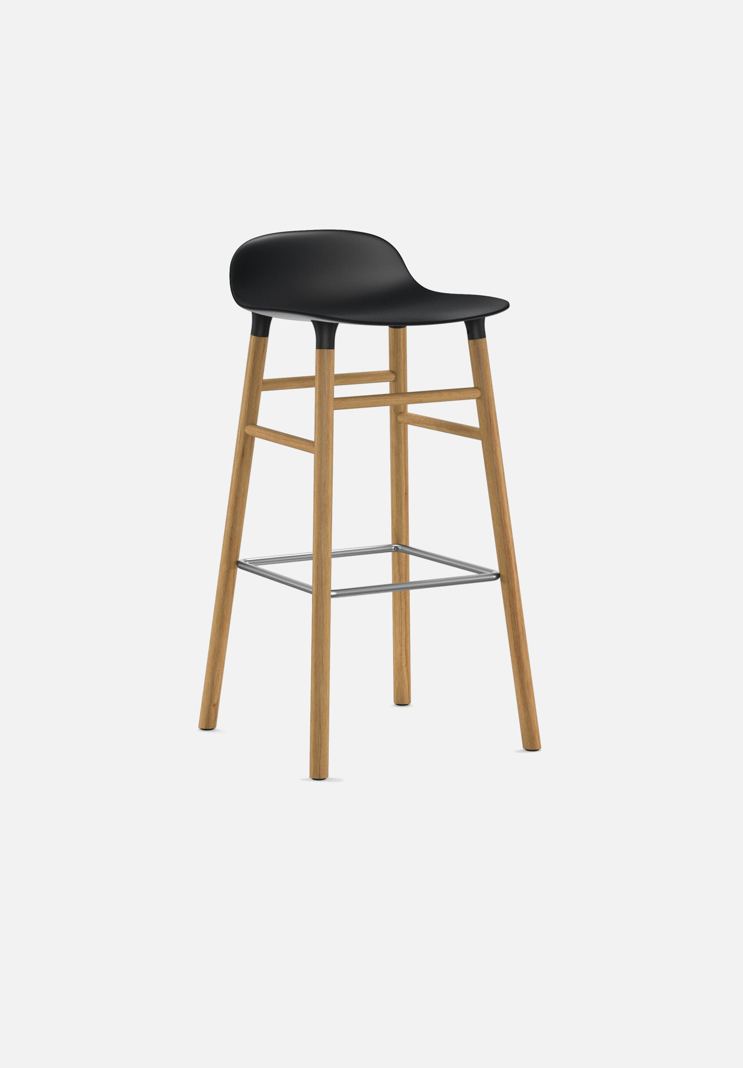 Form Stool — 75cm-Simon Legald-Normann Copenhagen-Black-Solid Oak-Average-canada-design-store-danish-denmark-furniture-interior