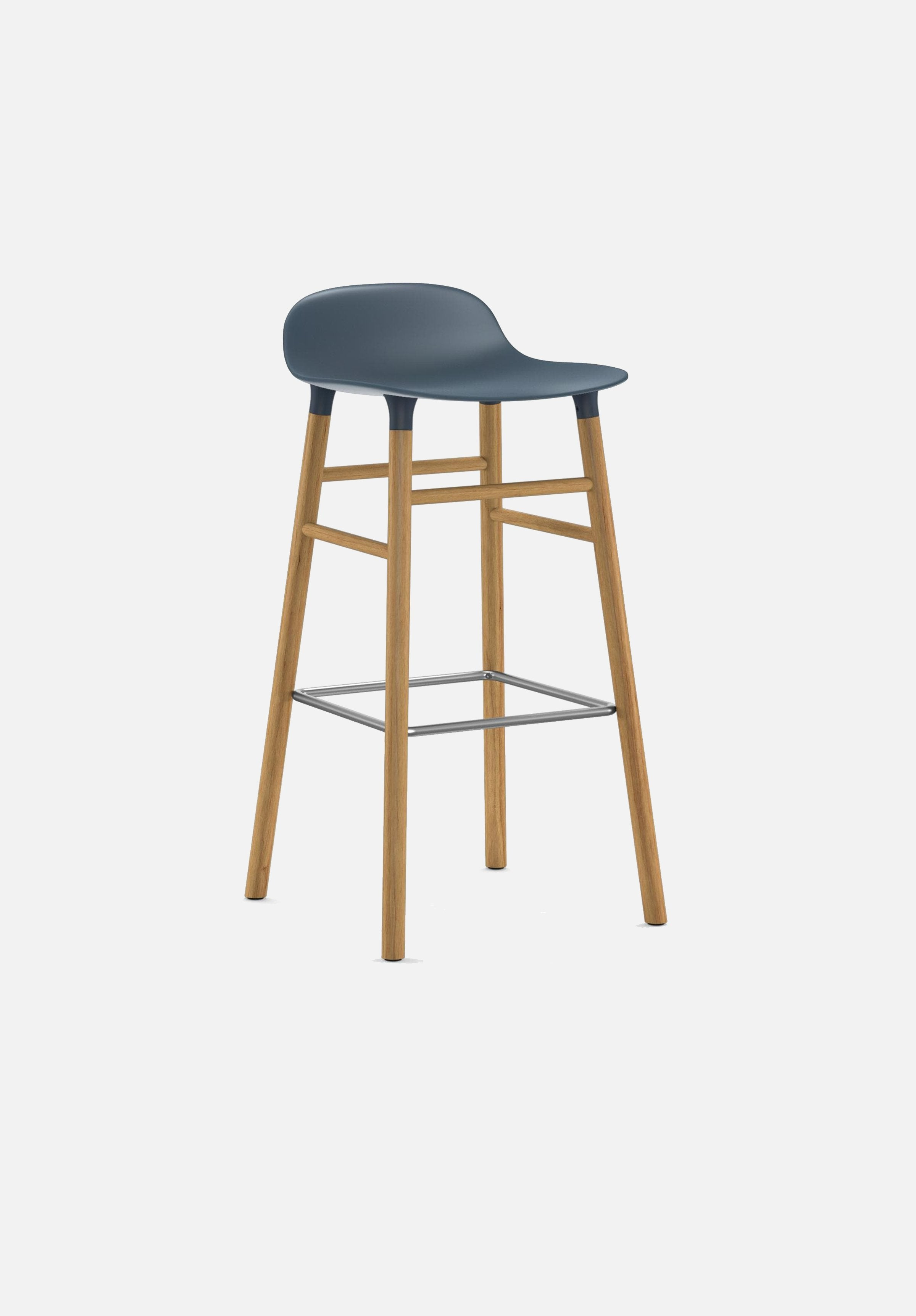 Form Stool — 75cm-Simon Legald-Normann Copenhagen-Blue-Solid Oak-Average-canada-design-store-danish-denmark-furniture-interior