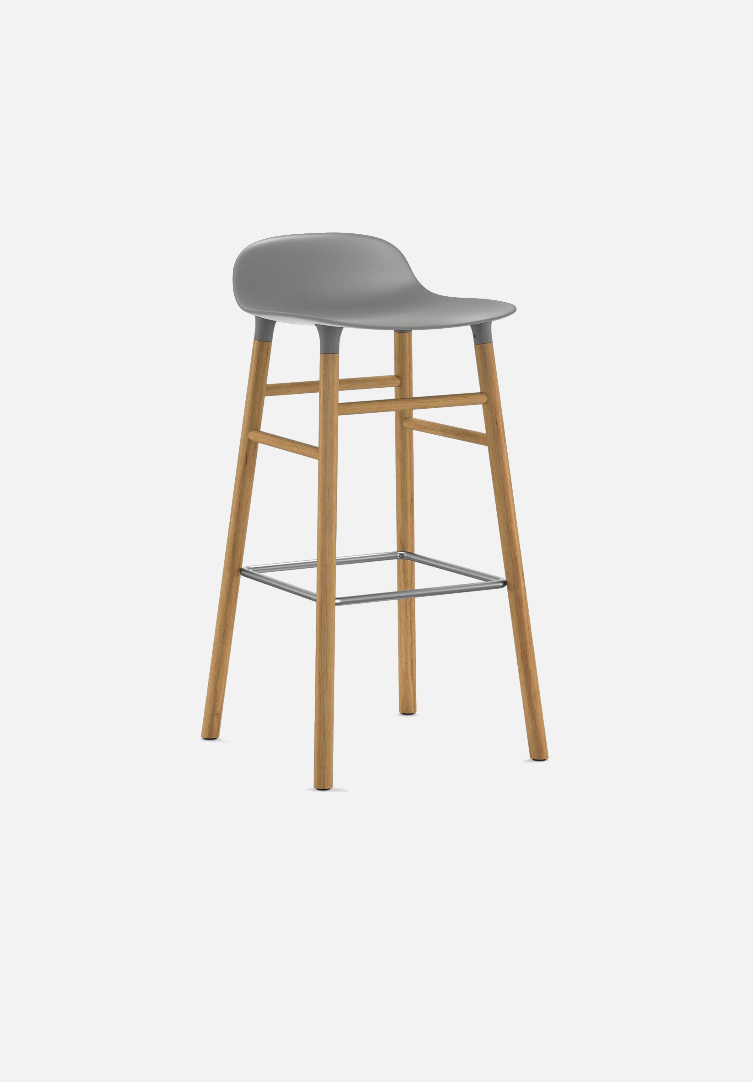Form Stool — 75cm-Simon Legald-Normann Copenhagen-Grey-Solid Oak-Average-canada-design-store-danish-denmark-furniture-interior
