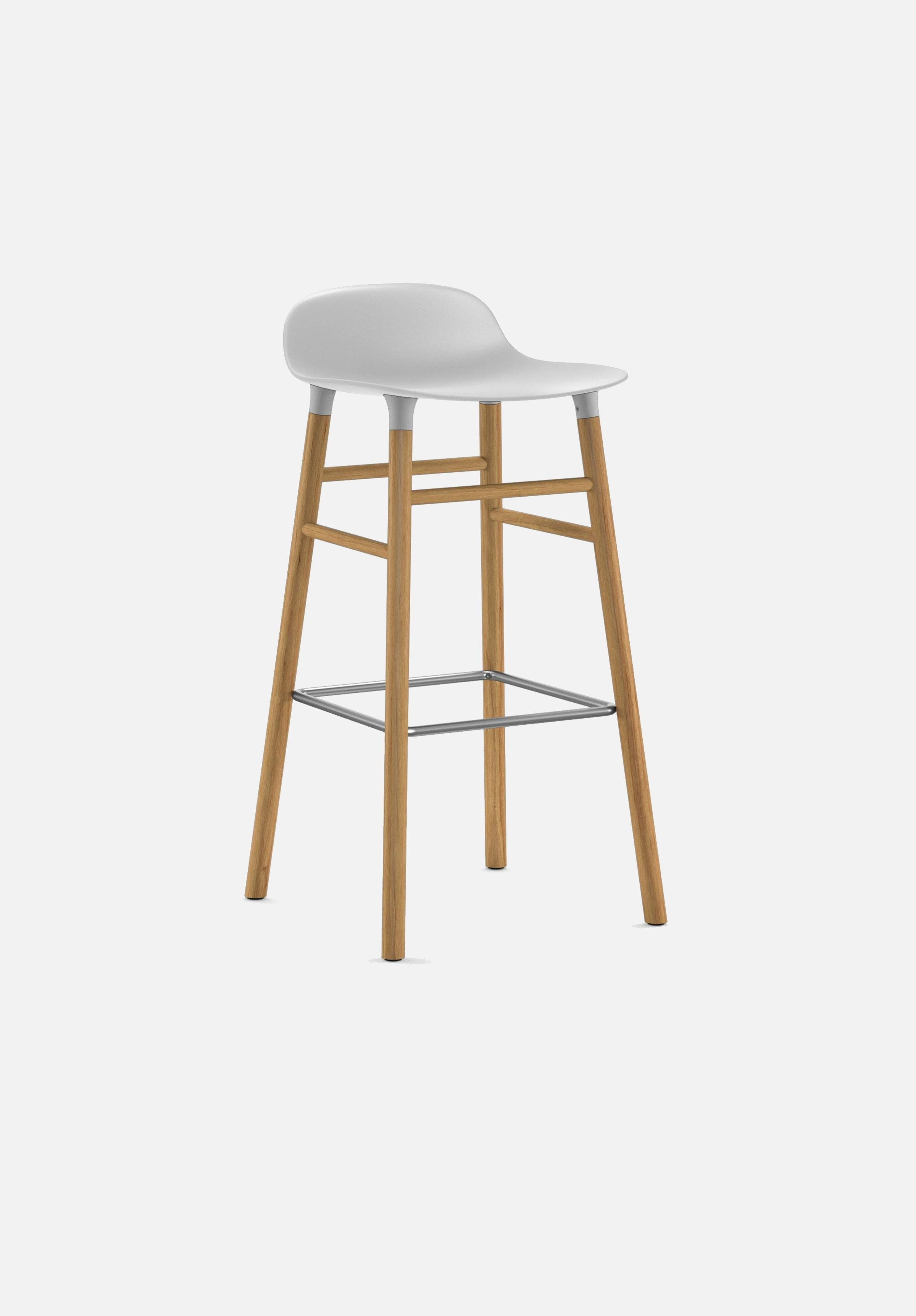 Form Stool — 75cm-Simon Legald-Normann Copenhagen-White-Solid Oak-Average-canada-design-store-danish-denmark-furniture-interior