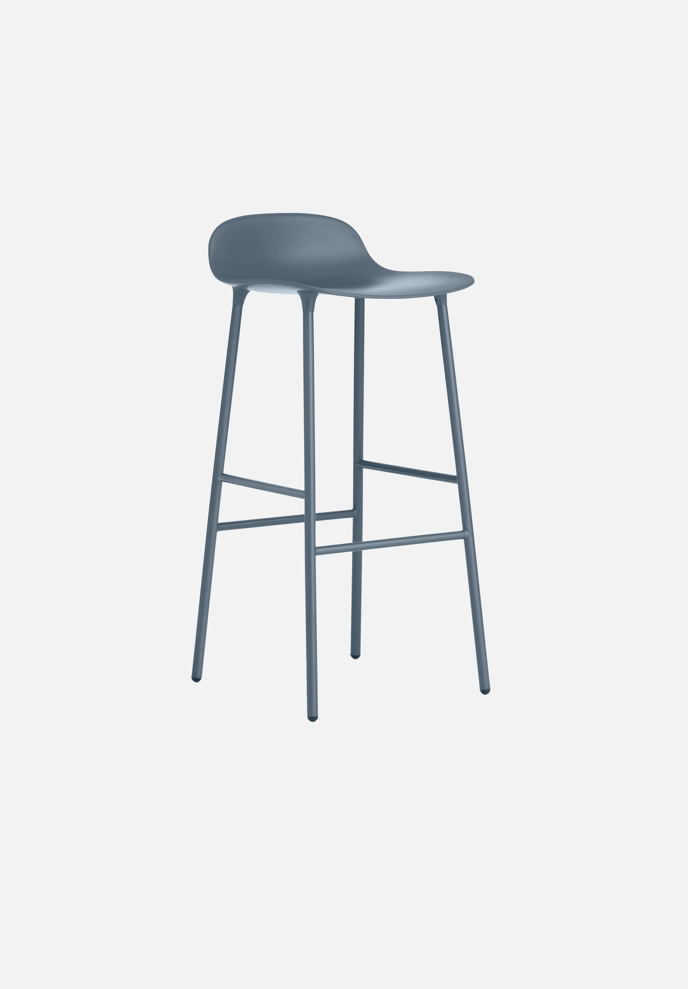 Form Stool — 75cm-Simon Legald-Normann Copenhagen-Blue-Lacquered Steel-Average-canada-design-store-danish-denmark-furniture-interior