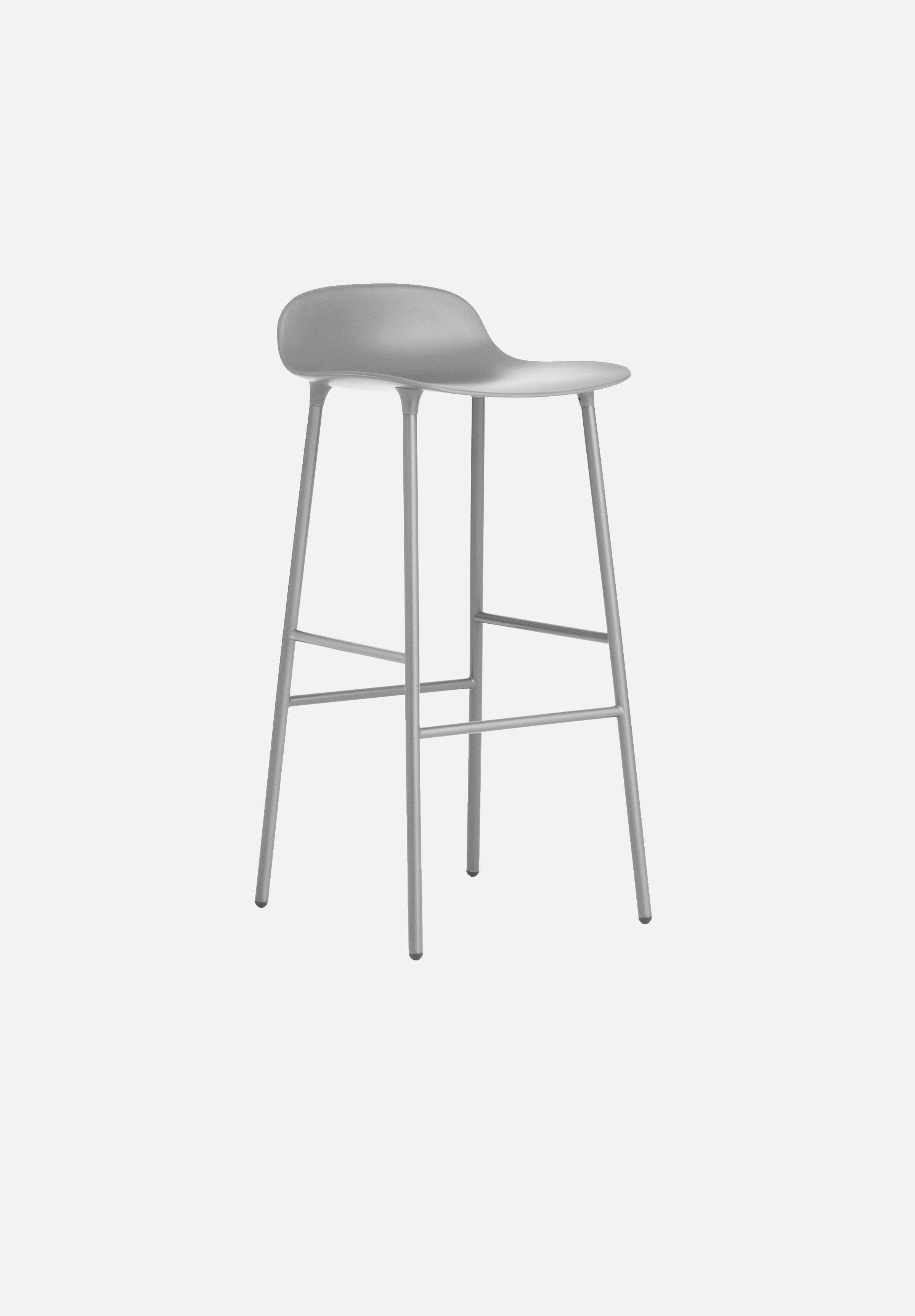 Form Stool — 75cm-Simon Legald-Normann Copenhagen-Grey-Lacquered Steel-Average-canada-design-store-danish-denmark-furniture-interior
