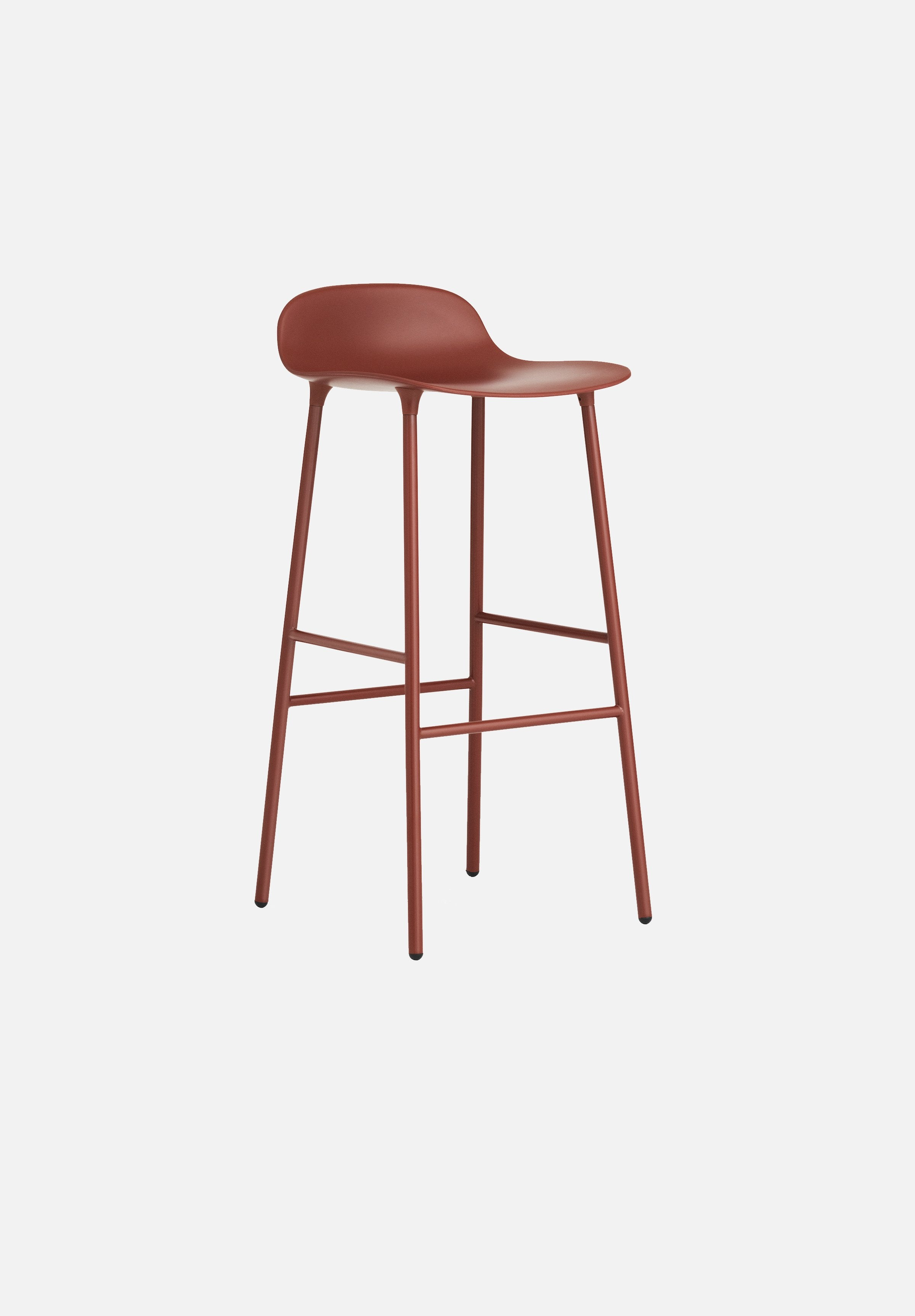 Form Stool — 75cm-Simon Legald-Normann Copenhagen-Red-Lacquered Steel-Average-canada-design-store-danish-denmark-furniture-interior