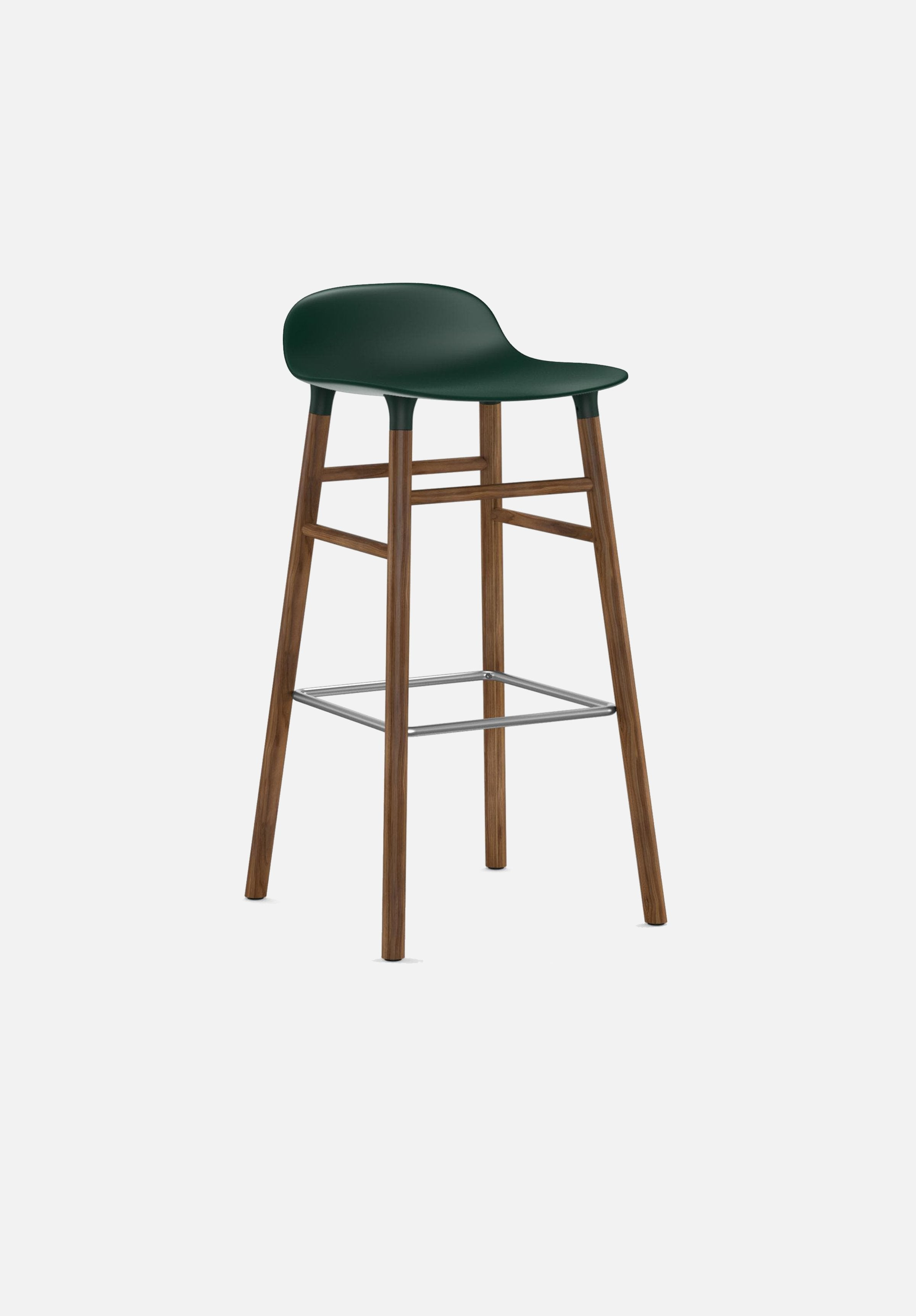 Form Stool — 75cm-Simon Legald-Normann Copenhagen-Green-Solid Walnut-Average-canada-design-store-danish-denmark-furniture-interior