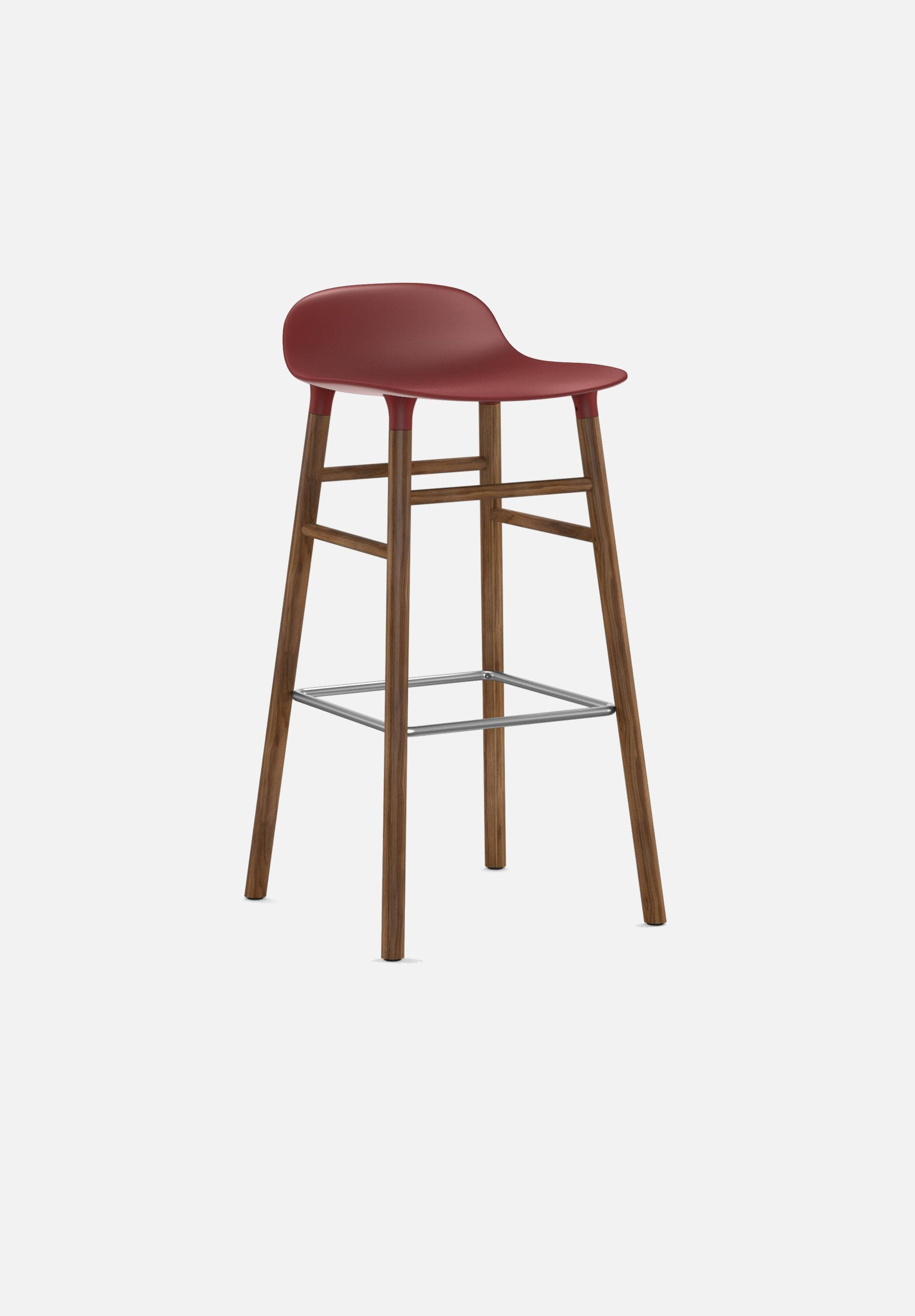 Form Stool — 75cm-Simon Legald-Normann Copenhagen-Red-Solid Walnut-Average-canada-design-store-danish-denmark-furniture-interior