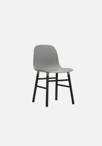 Form Chair — Wood Legs-Simon Legald-Normann Copenhagen-Grey-Lacquered Black Wood-Average-canada-design-store-danish-denmark-furniture-interior