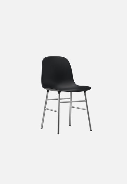 Form Chair — Metal Legs-Simon Legald-Normann Copenhagen-Black-Chrome-Average-canada-design-store-danish-denmark-furniture-interior