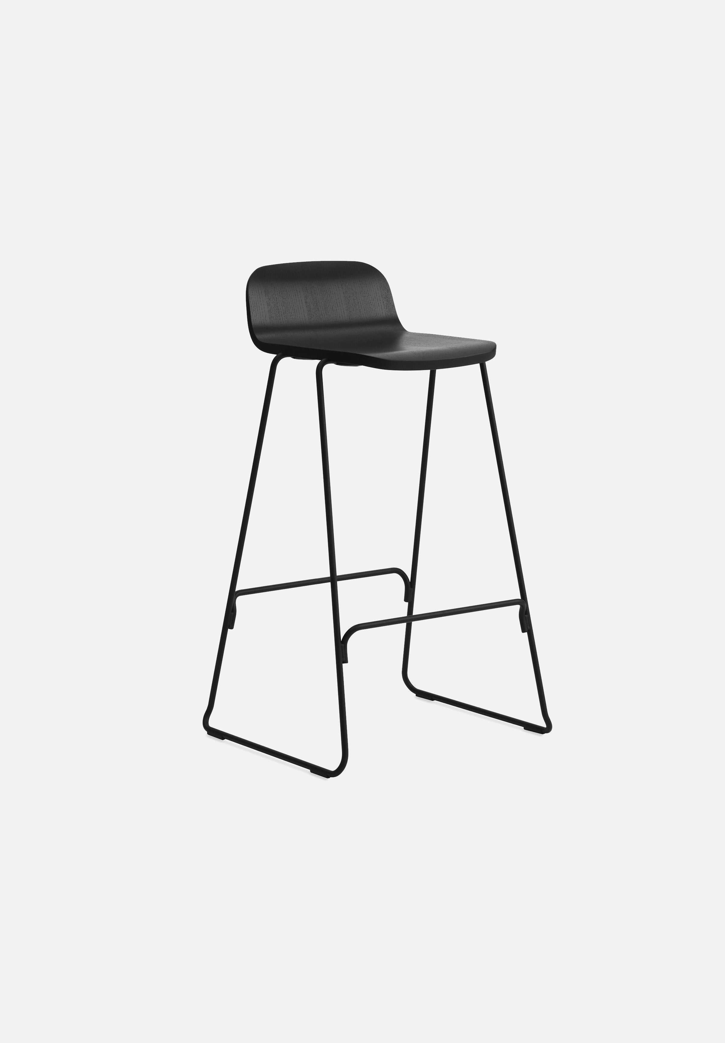 Just Stool-Iskos-Berlin-Normann Copenhagen-Black-75cm-With-Average