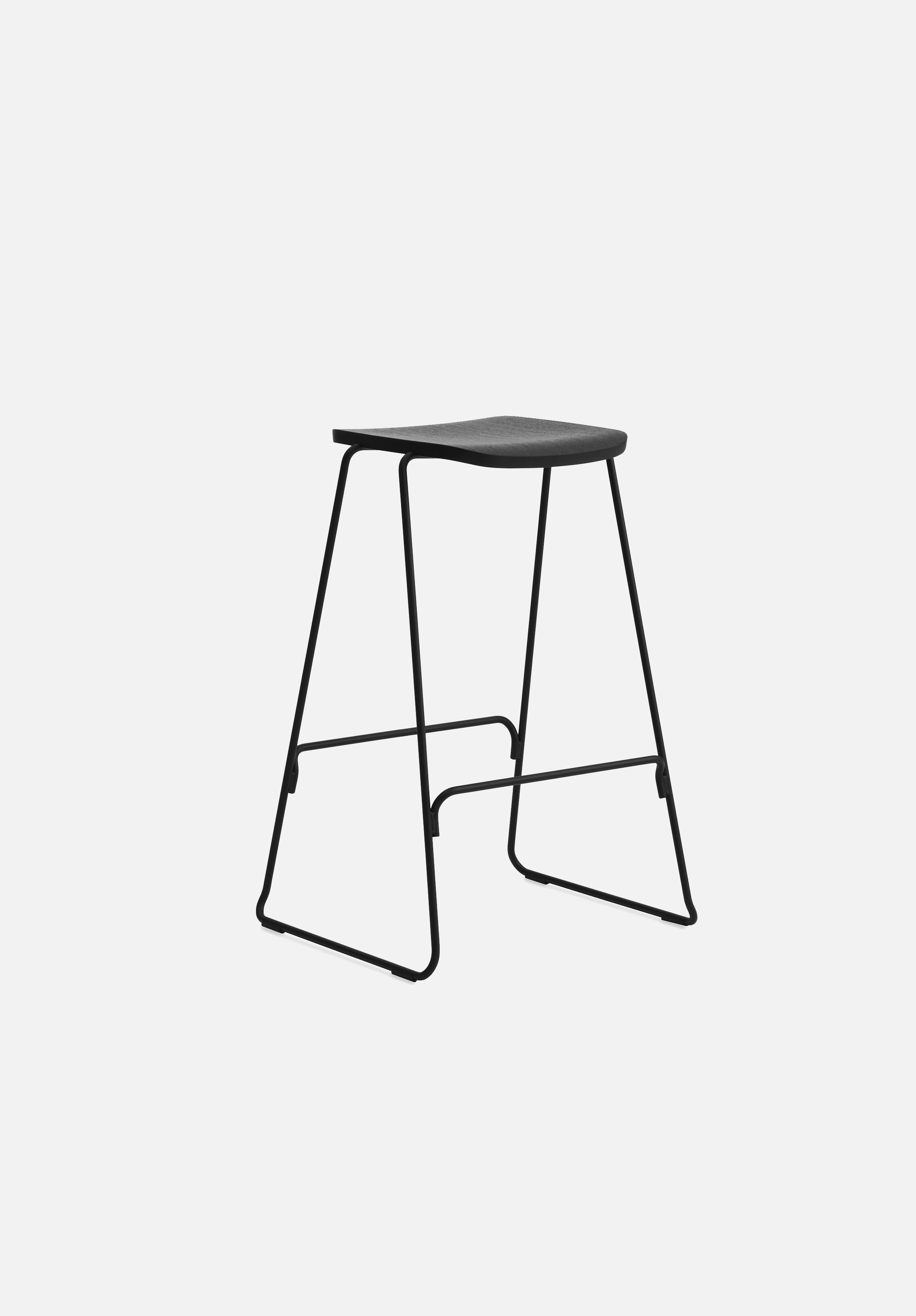 Just Stool-Iskos-Berlin-Normann Copenhagen-Black-75cm-Without-Average
