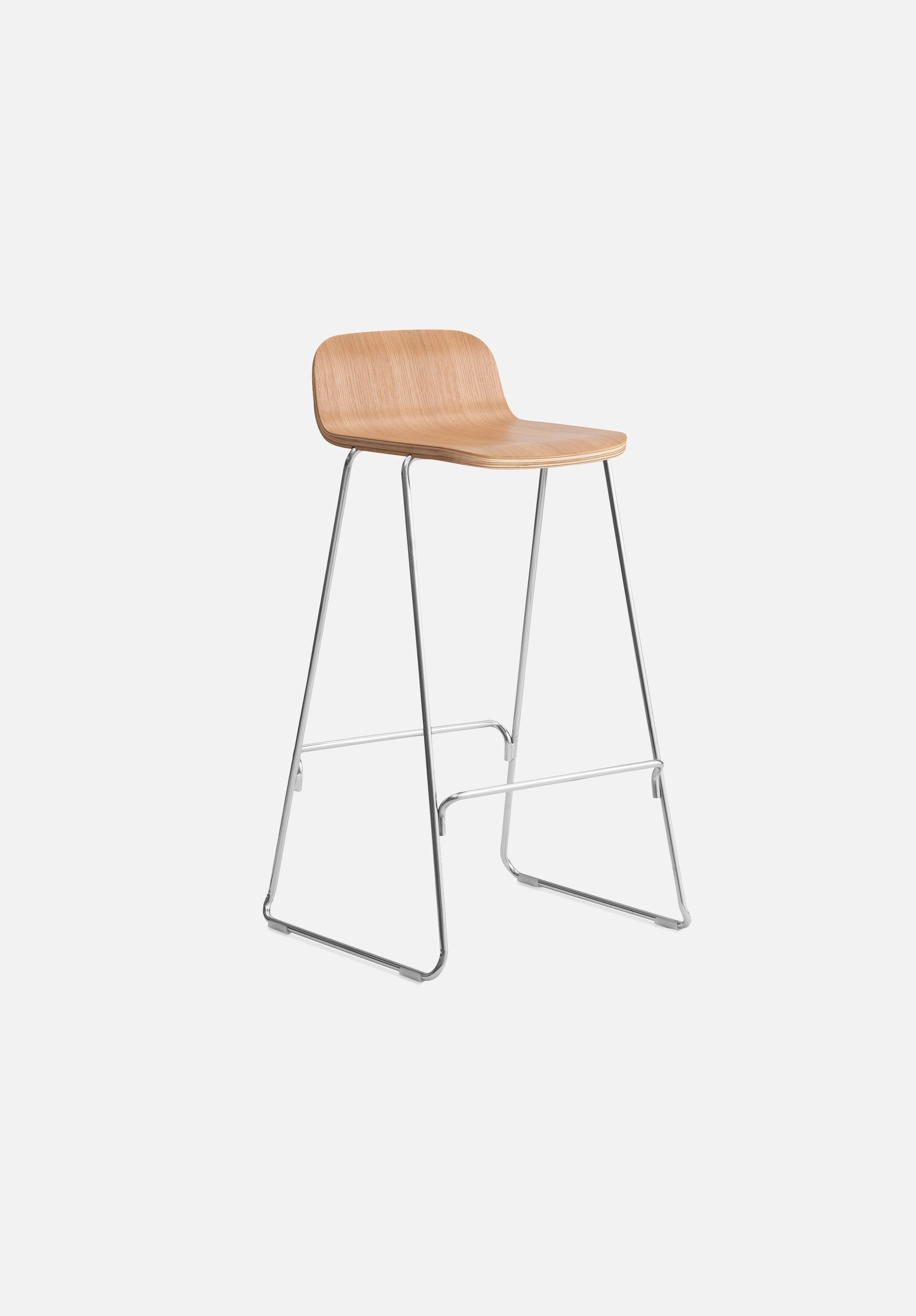 Just Stool-Iskos-Berlin-Normann Copenhagen-Oak-75cm-With-Average