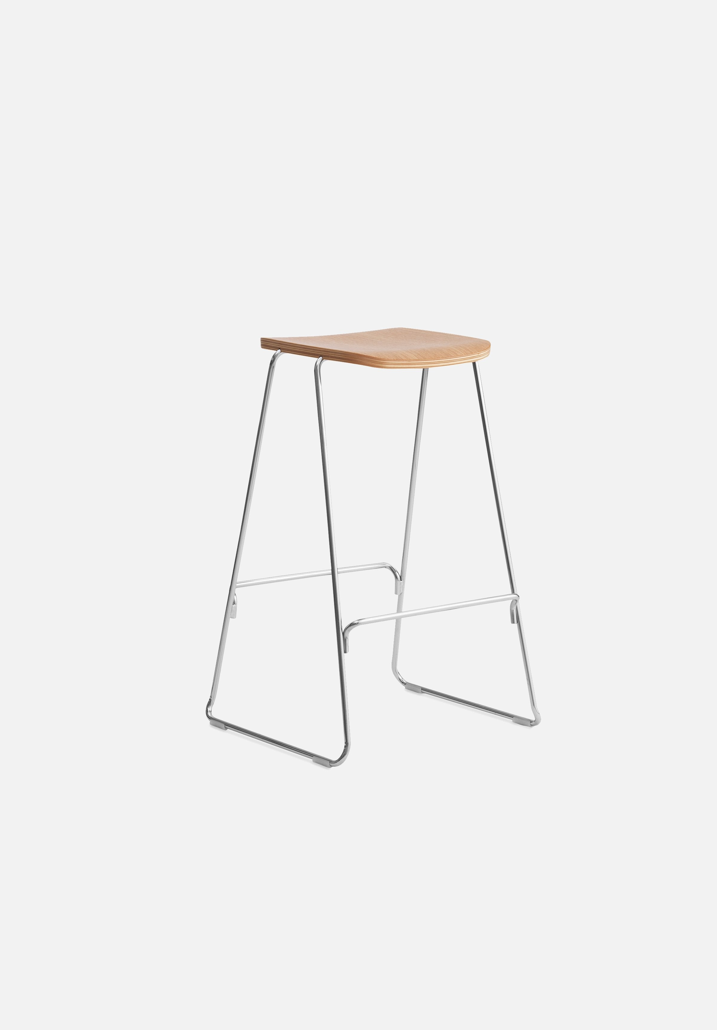 Just Stool-Iskos-Berlin-Normann Copenhagen-Oak-75cm-Without-Average
