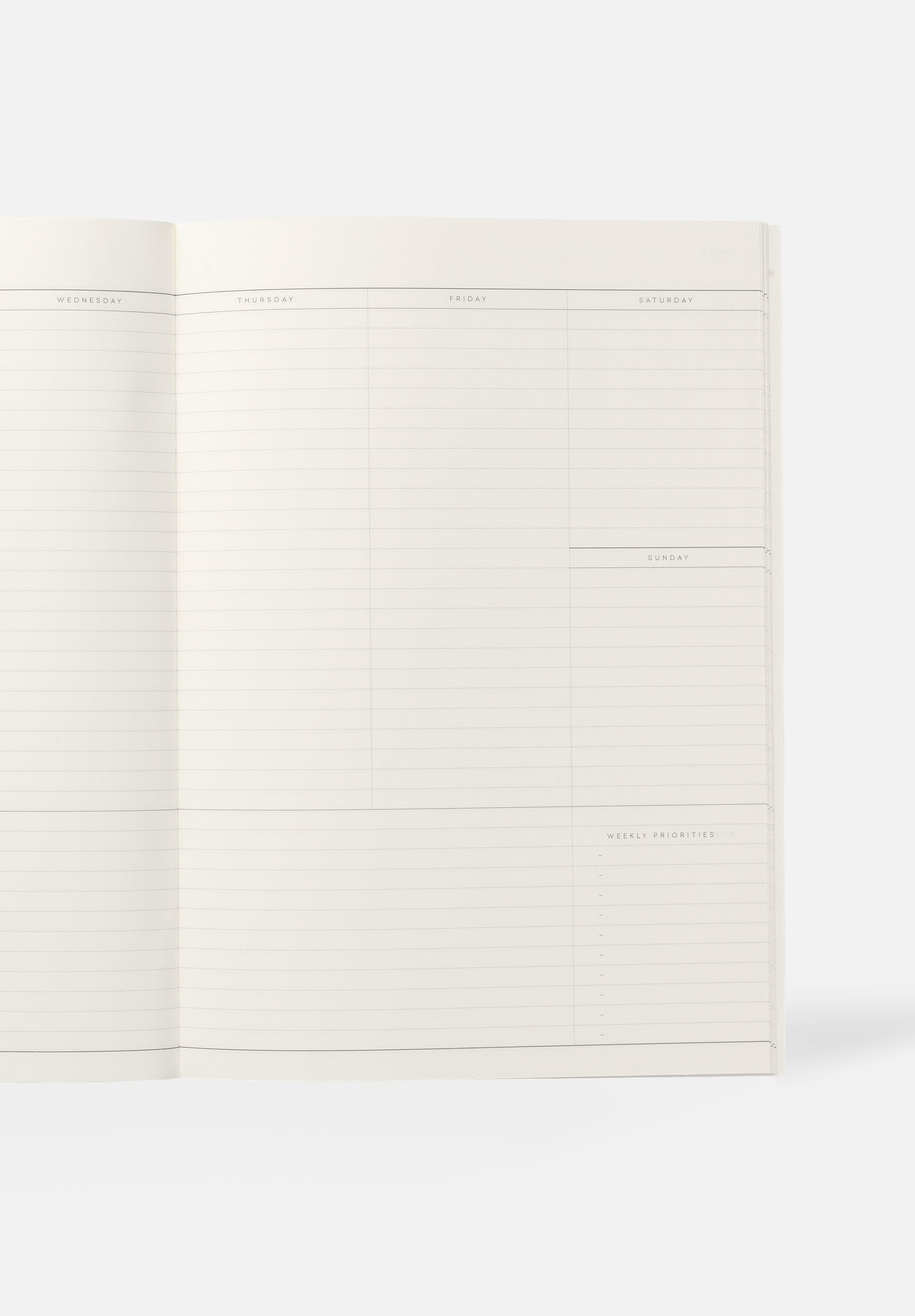 MILO Weekly Planner — Light Blue