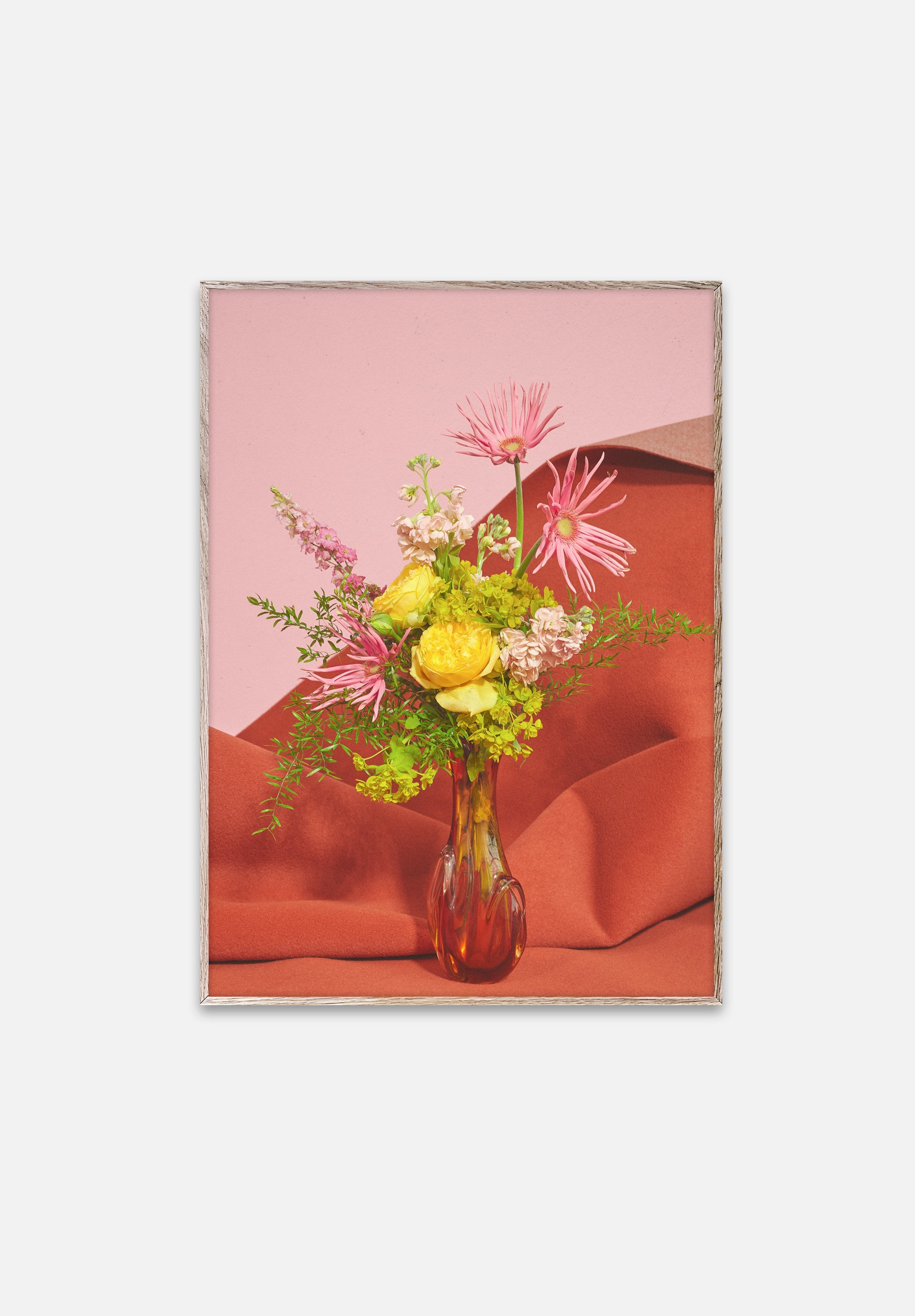 Blomst Pink/Red-Uffe Buchard-Paper Collective-30x40cm-Average