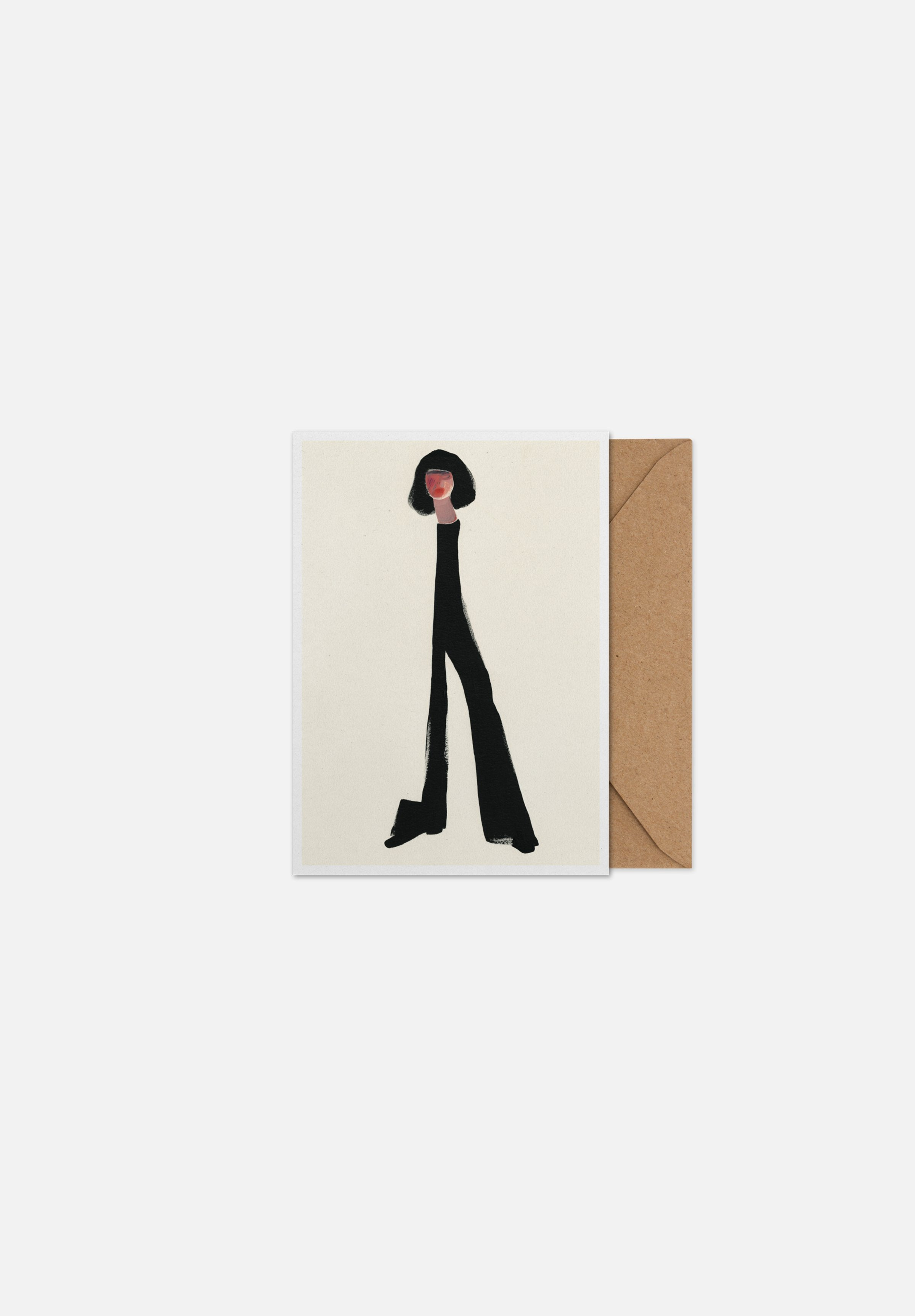 Black Pants — Greeting Card-Paper Collective-A5-Average