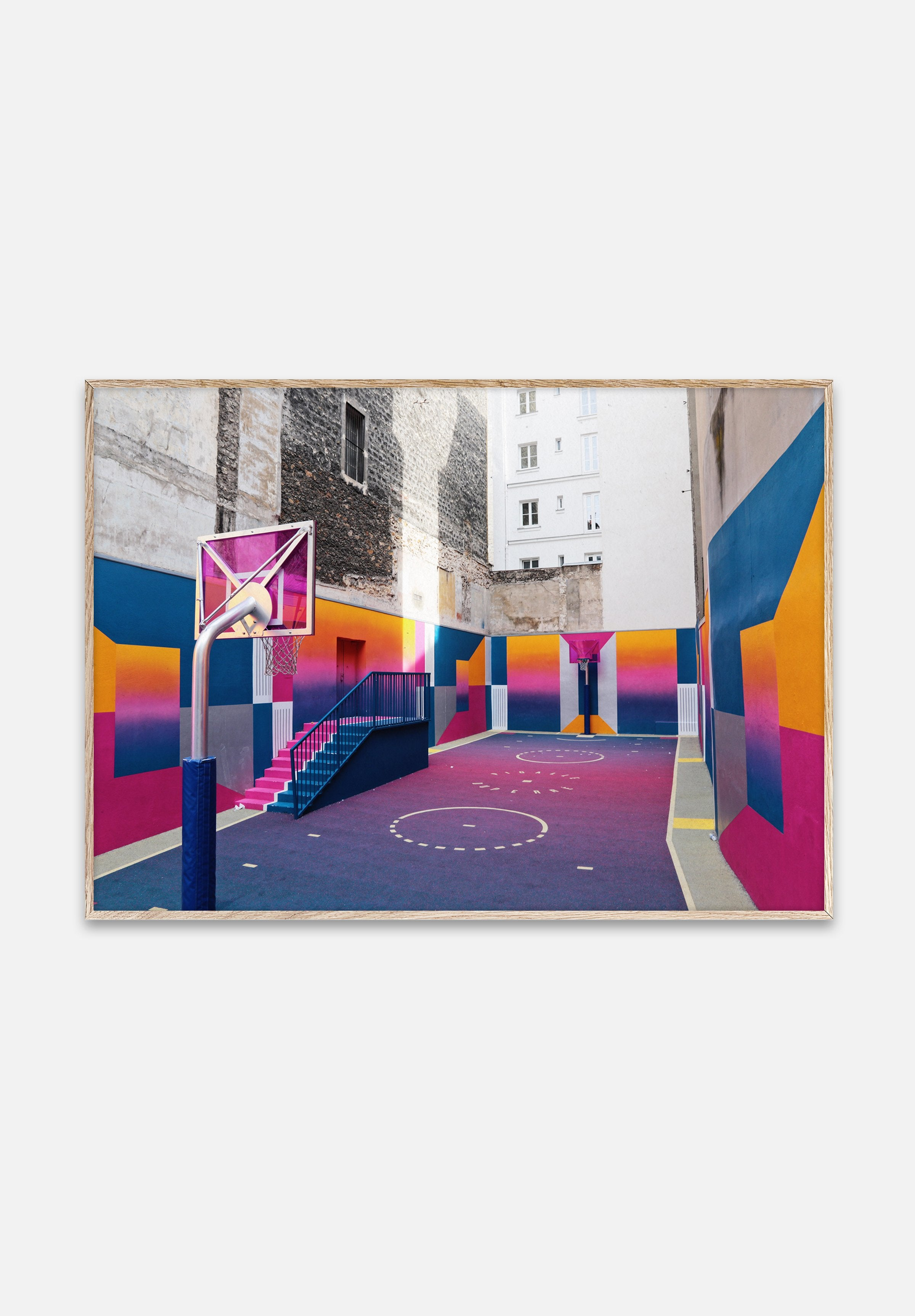 Cities Of Basketball 08 — Paris-Kasper Nyman-Paper Collective-40x30cm-Average