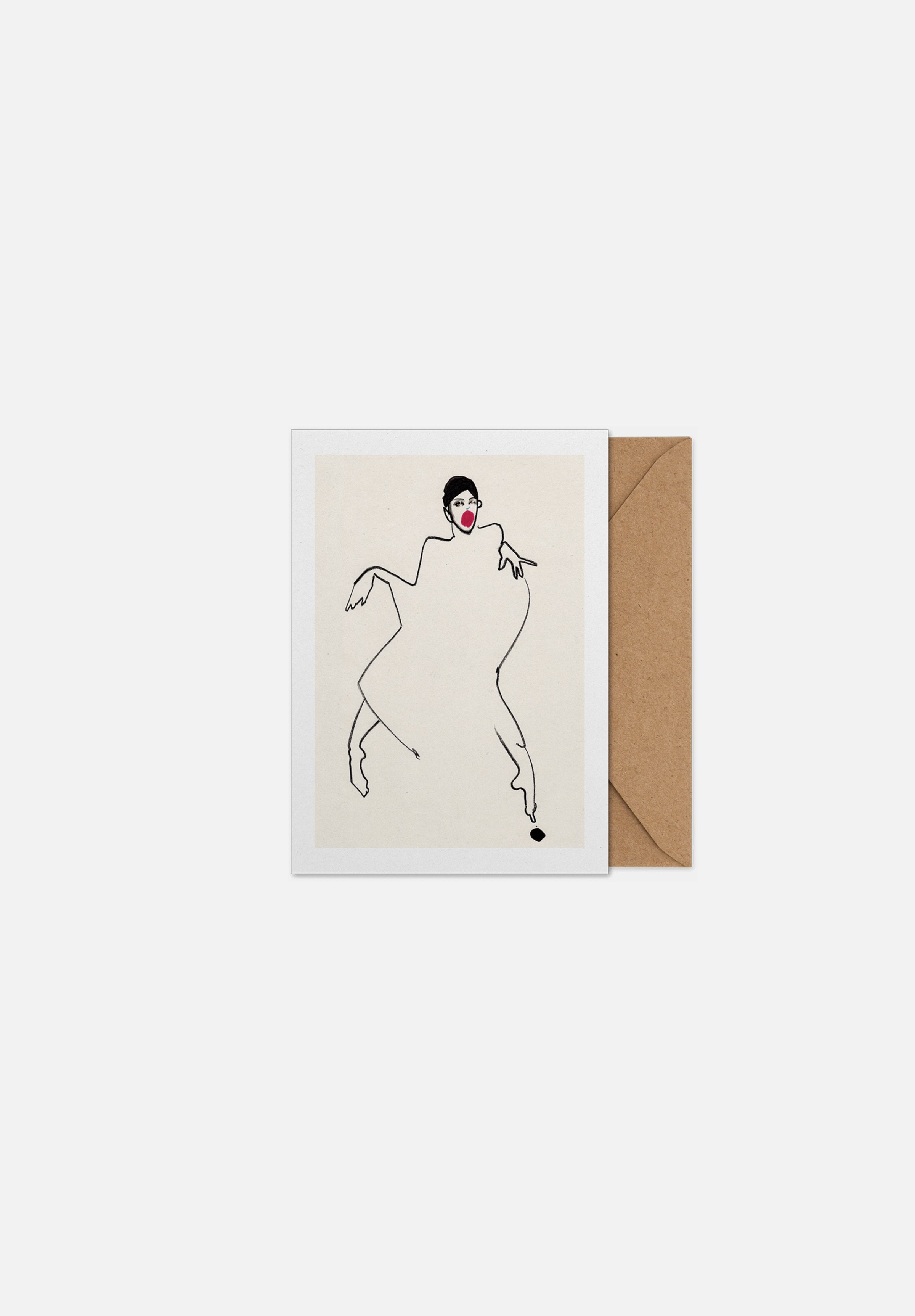 Dancer 02 — Greeting Card-Paper Collective-A5-Average